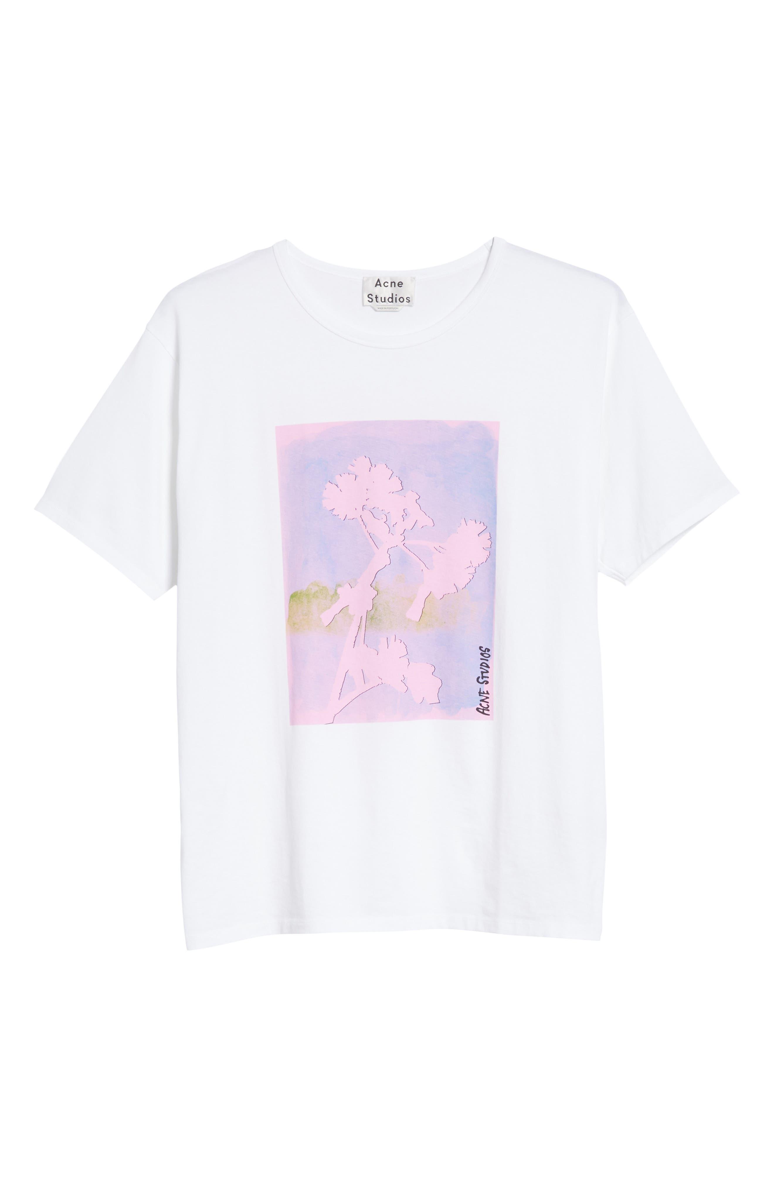 Niave Flower Graphic T-Shirt,                             Alternate thumbnail 6, color,                             100