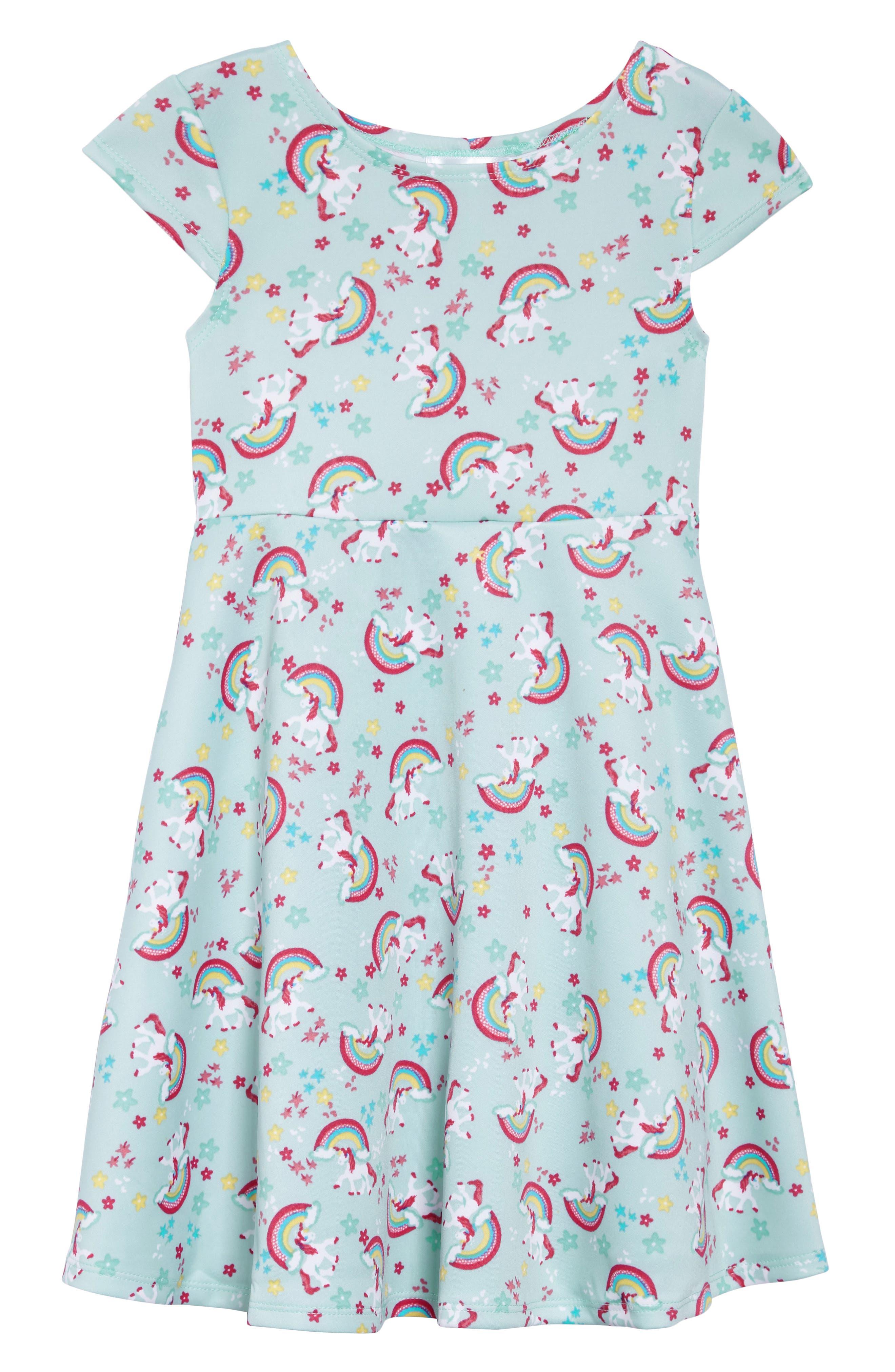 Unicorn Print Dress,                             Main thumbnail 1, color,                             363