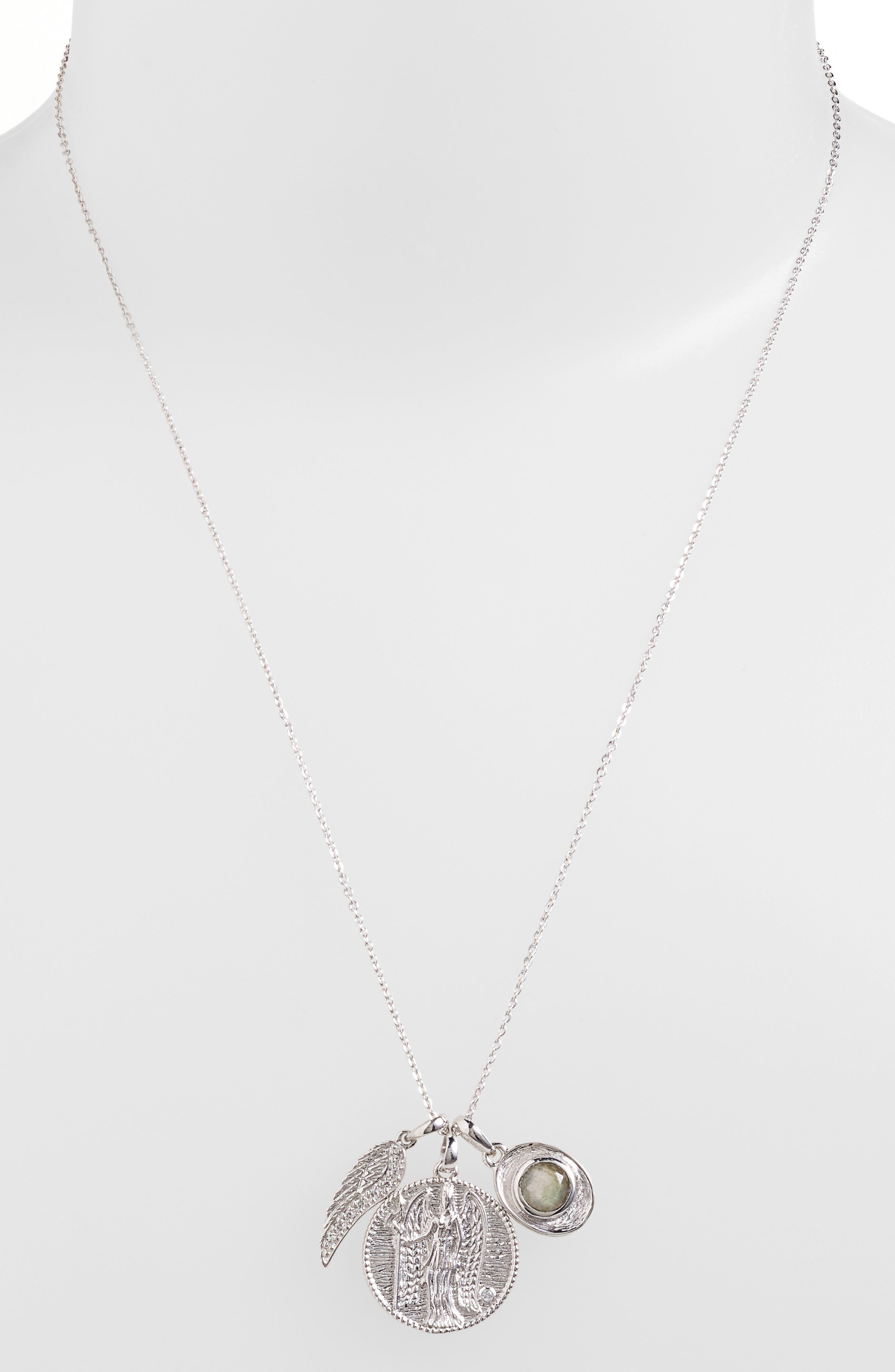 MELINDA MARIA,                             Goddess of Power Pendant Necklace,                             Main thumbnail 1, color,                             040