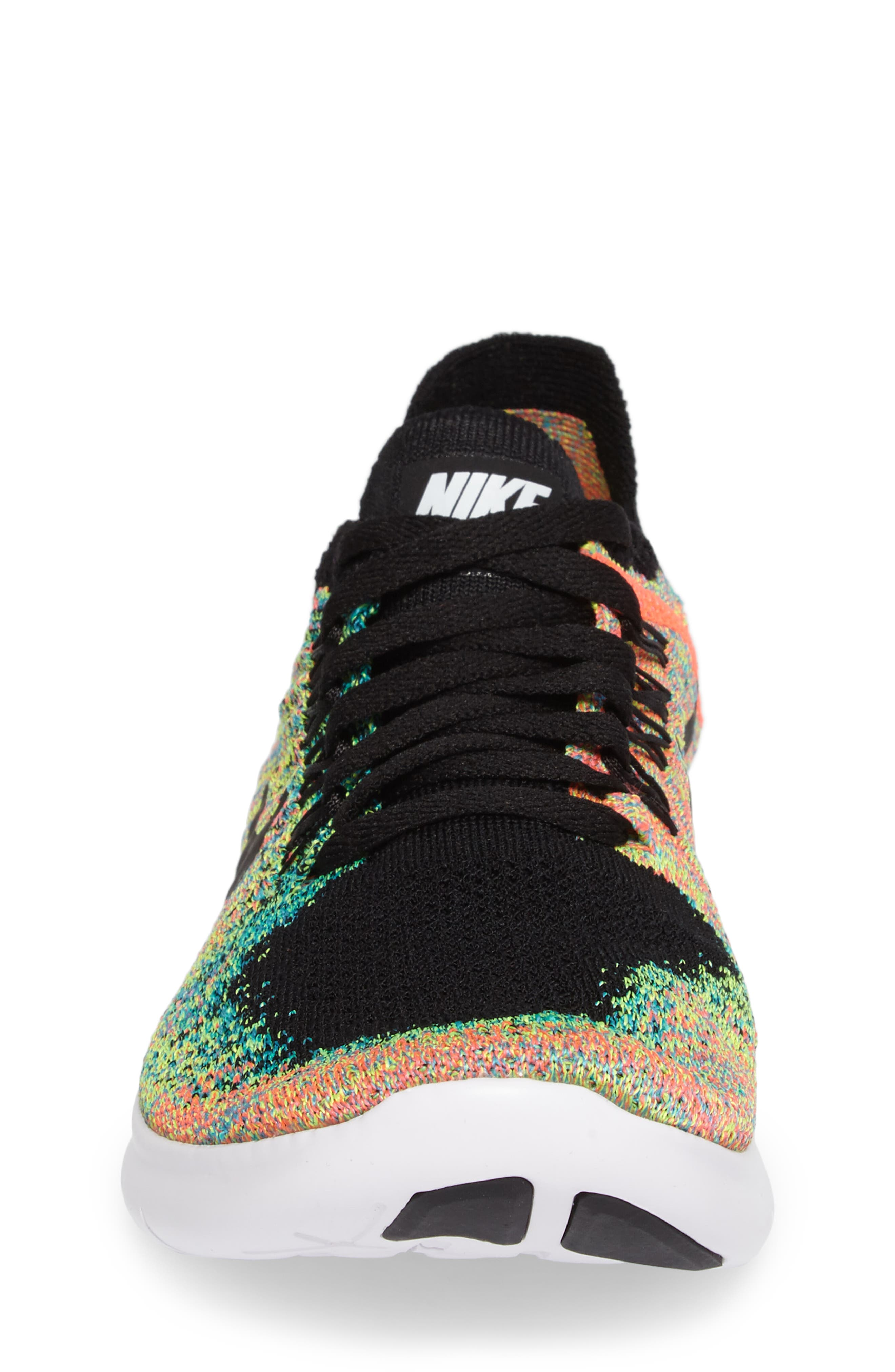 Free RN Flyknit 2017 Running Shoe,                             Alternate thumbnail 4, color,                             001