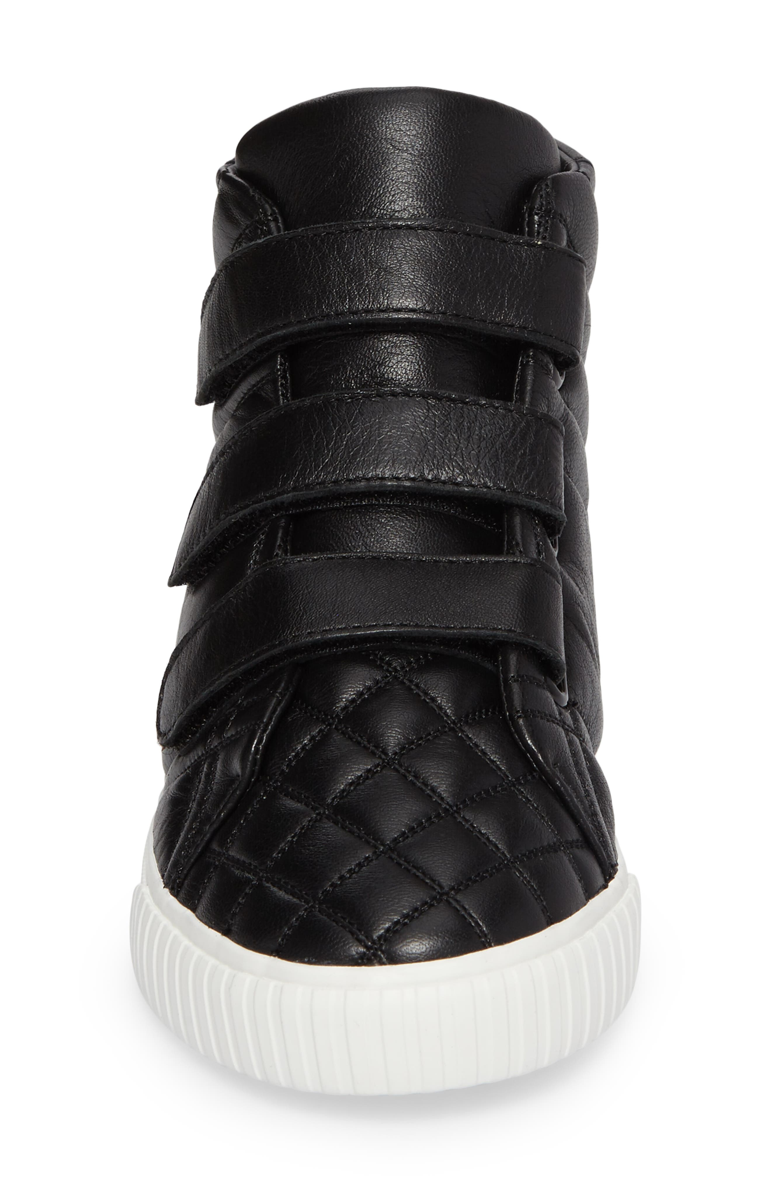 Sturrock Quilted High Top Sneaker,                             Alternate thumbnail 4, color,                             001