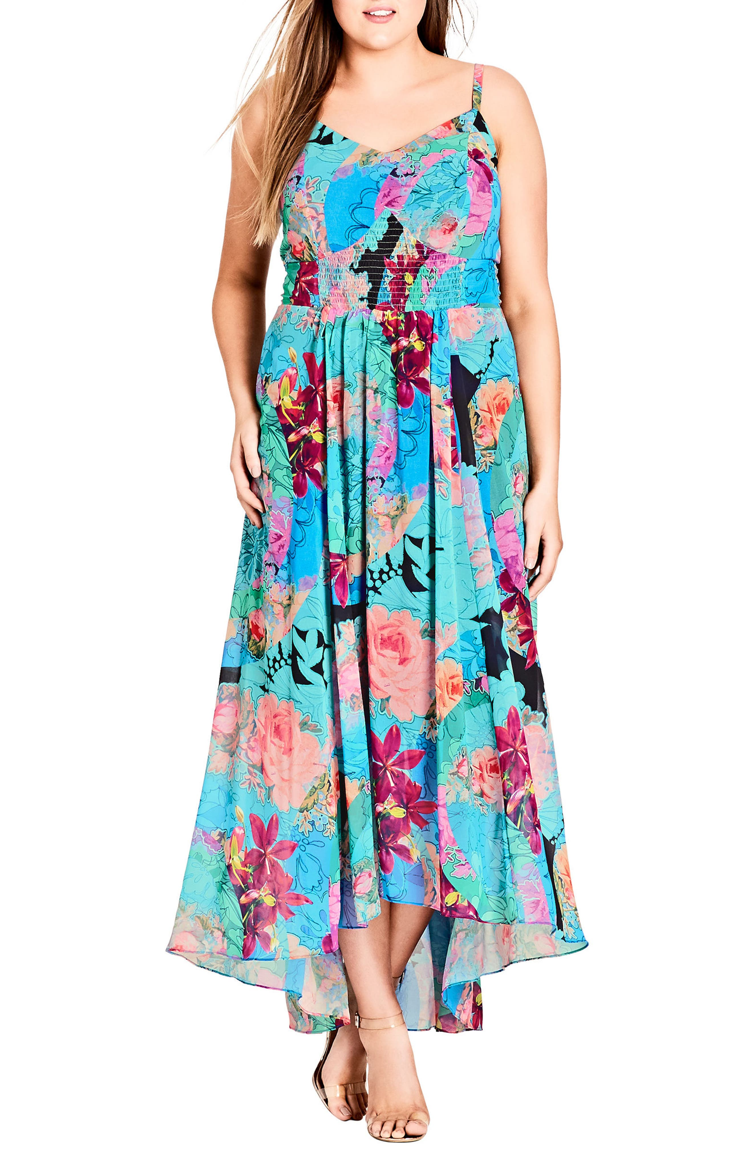 Looking Glass Maxi Dress,                         Main,                         color, LOOKING GLASS