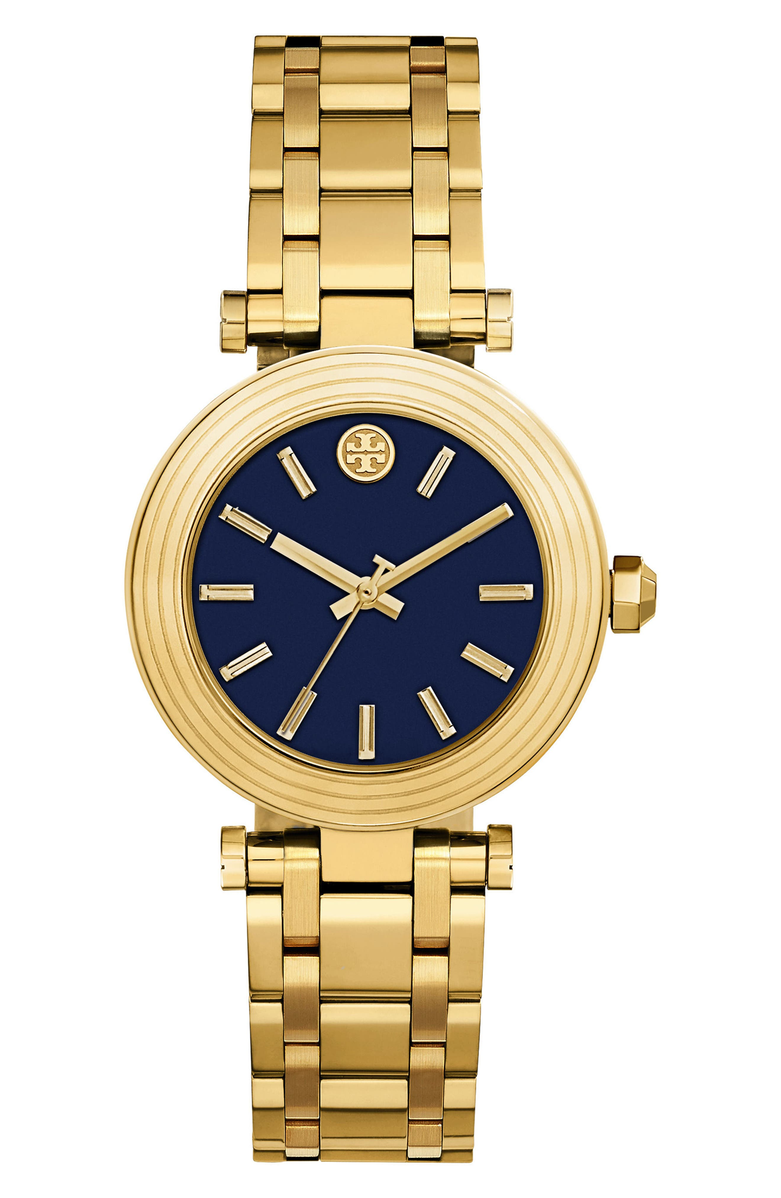 Classic-T Bracelet Watch, 36mm,                             Main thumbnail 1, color,                             GOLD/ NAVY/ GOLD