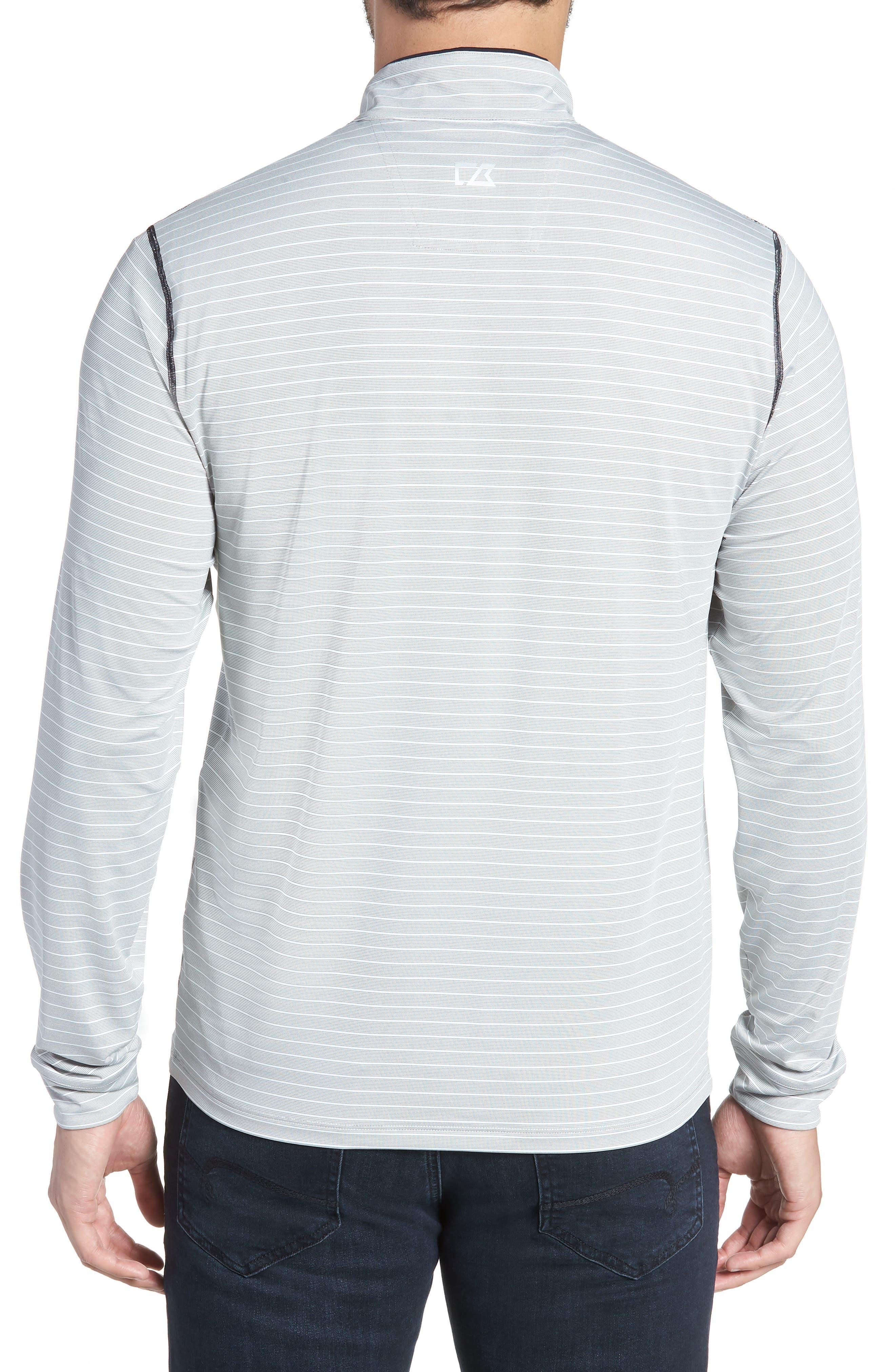 Meridian - Cleveland Browns Regular Fit Half Zip Pullover,                             Alternate thumbnail 2, color,                             BLACK