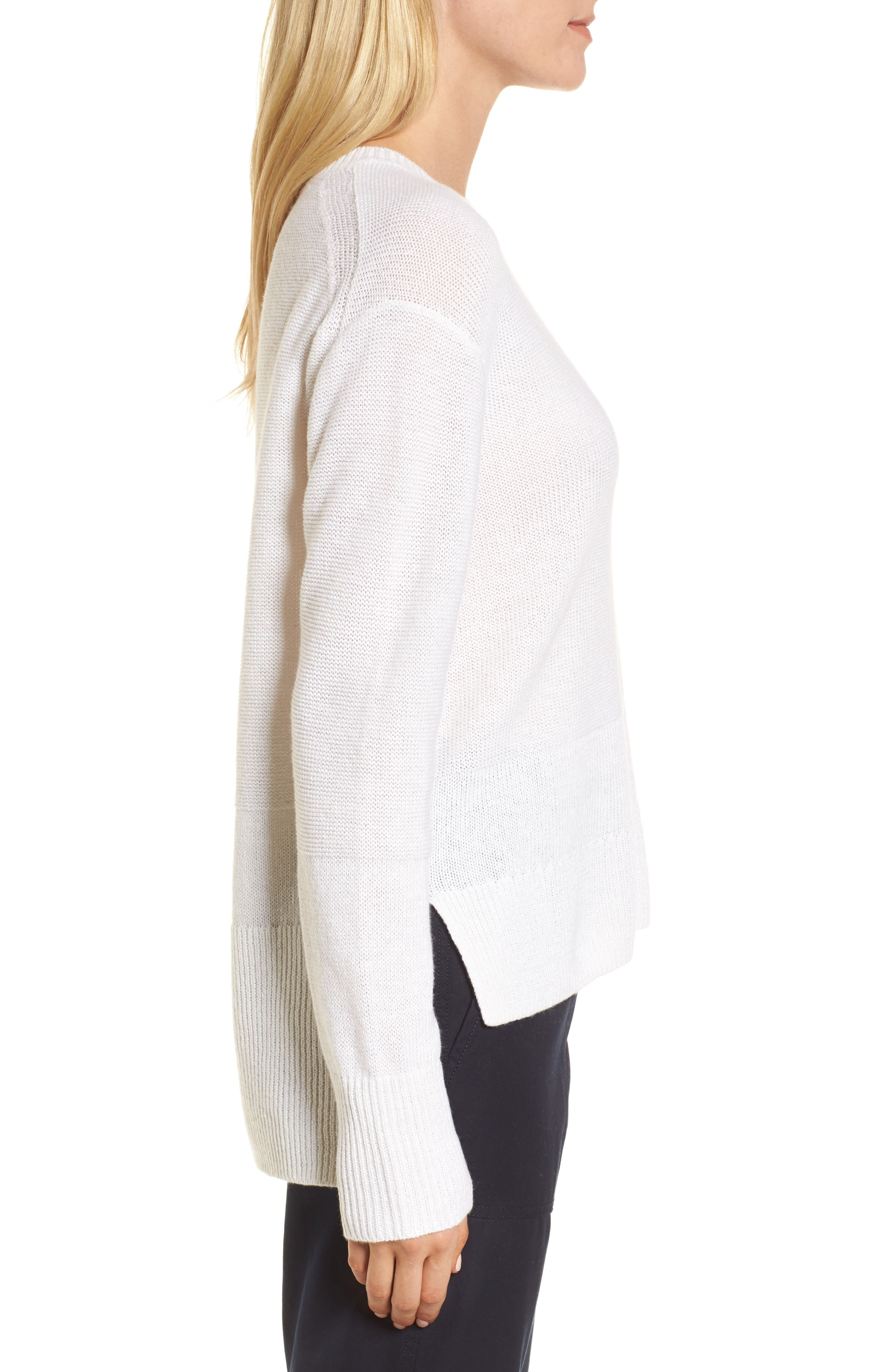 Linen & Cashmere Sweater,                             Alternate thumbnail 6, color,