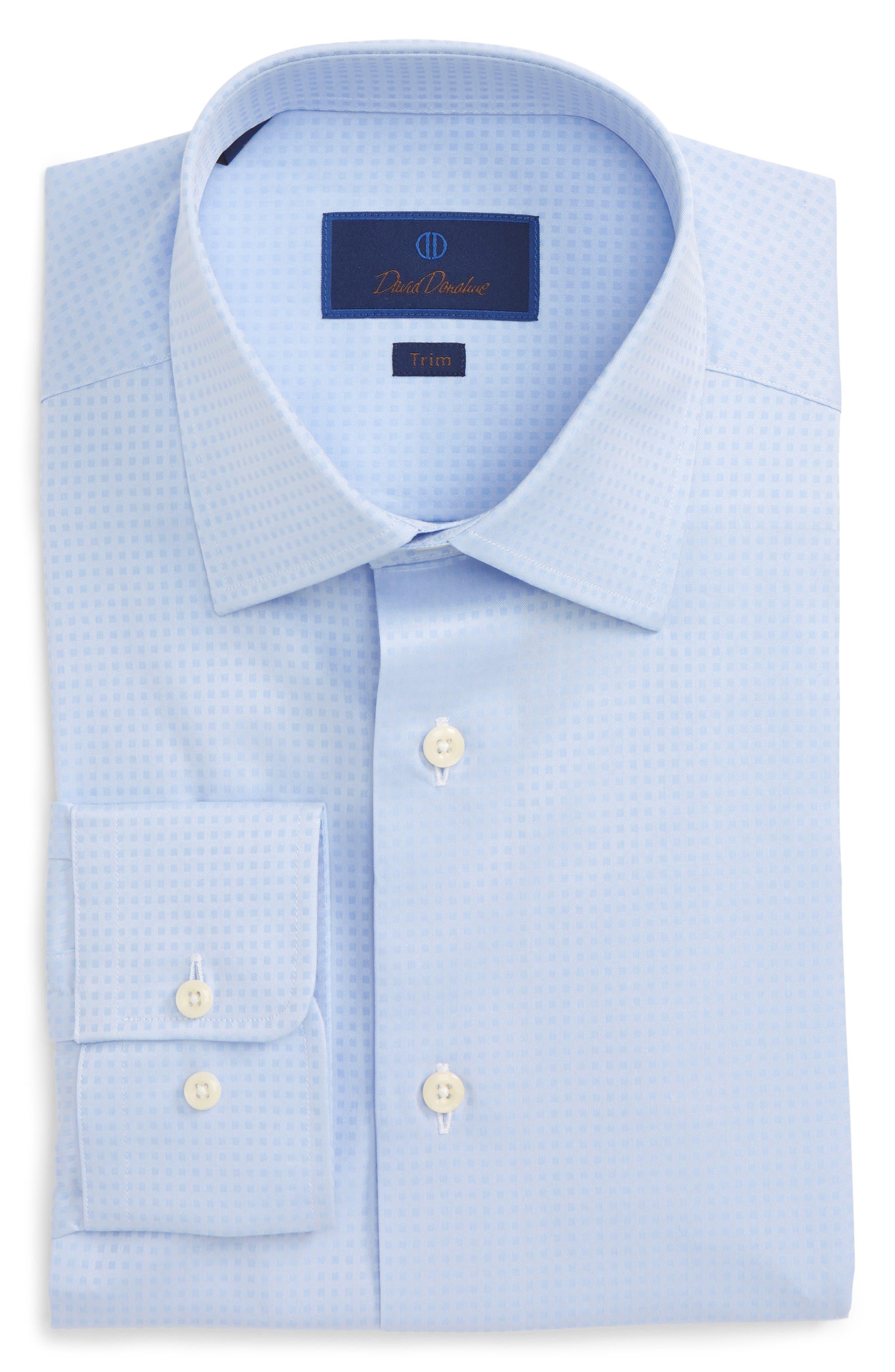Trim Fit Check Dress Shirt,                         Main,                         color, 454