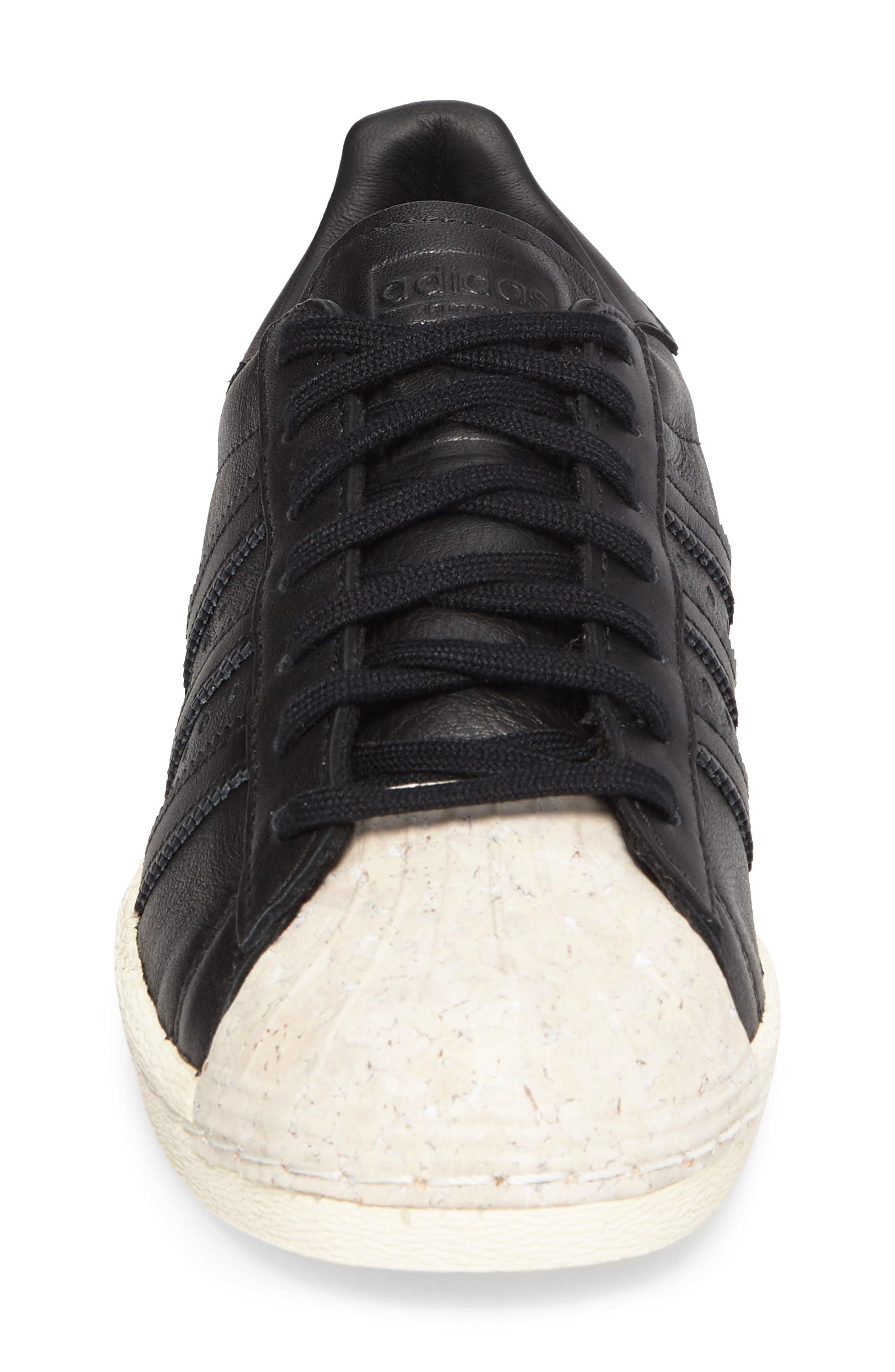 Superstar 80s Sneaker,                             Alternate thumbnail 4, color,                             001