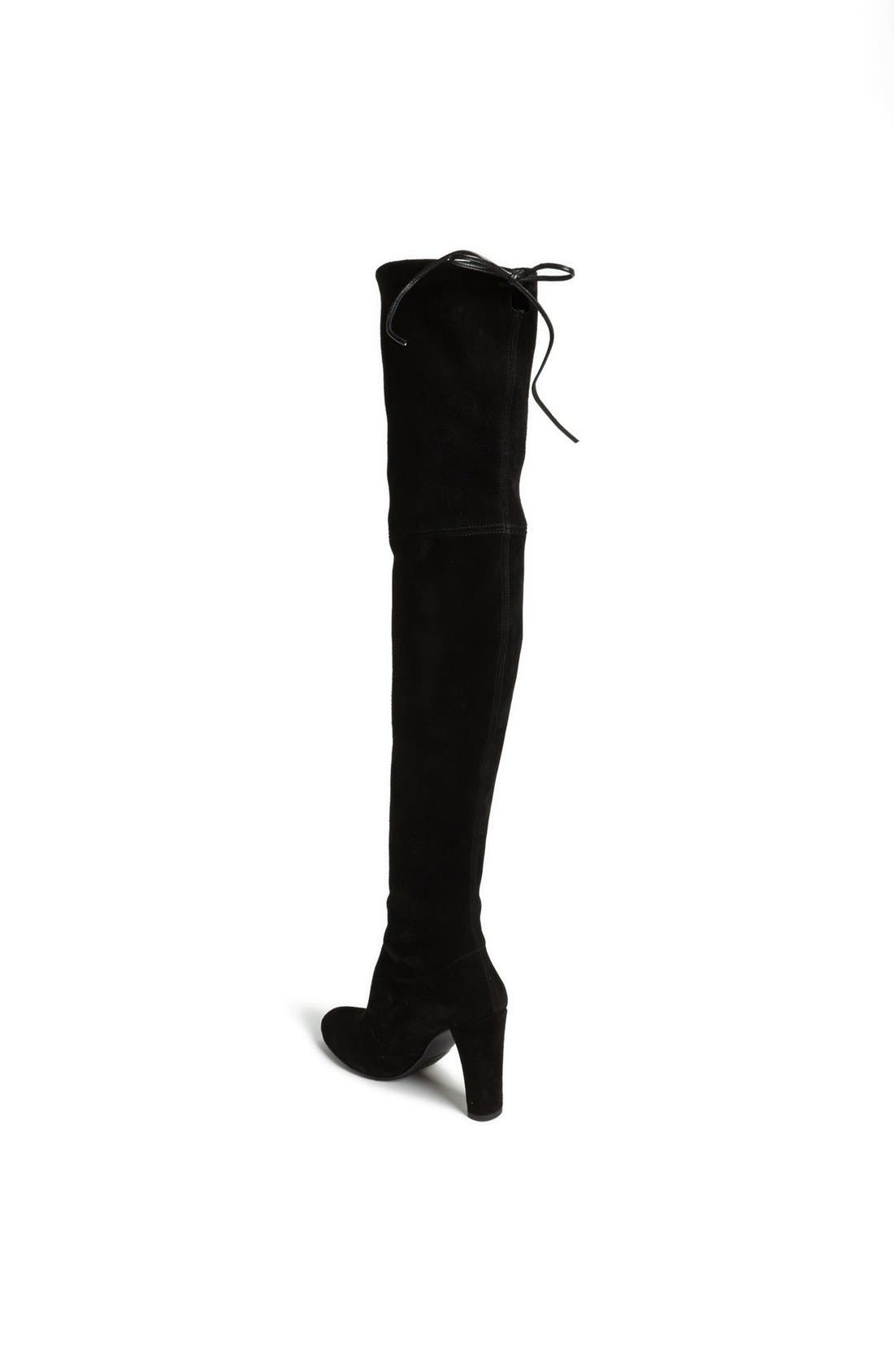 'Highland' Over the Knee Boot,                             Alternate thumbnail 2, color,                             BLACK SUEDE