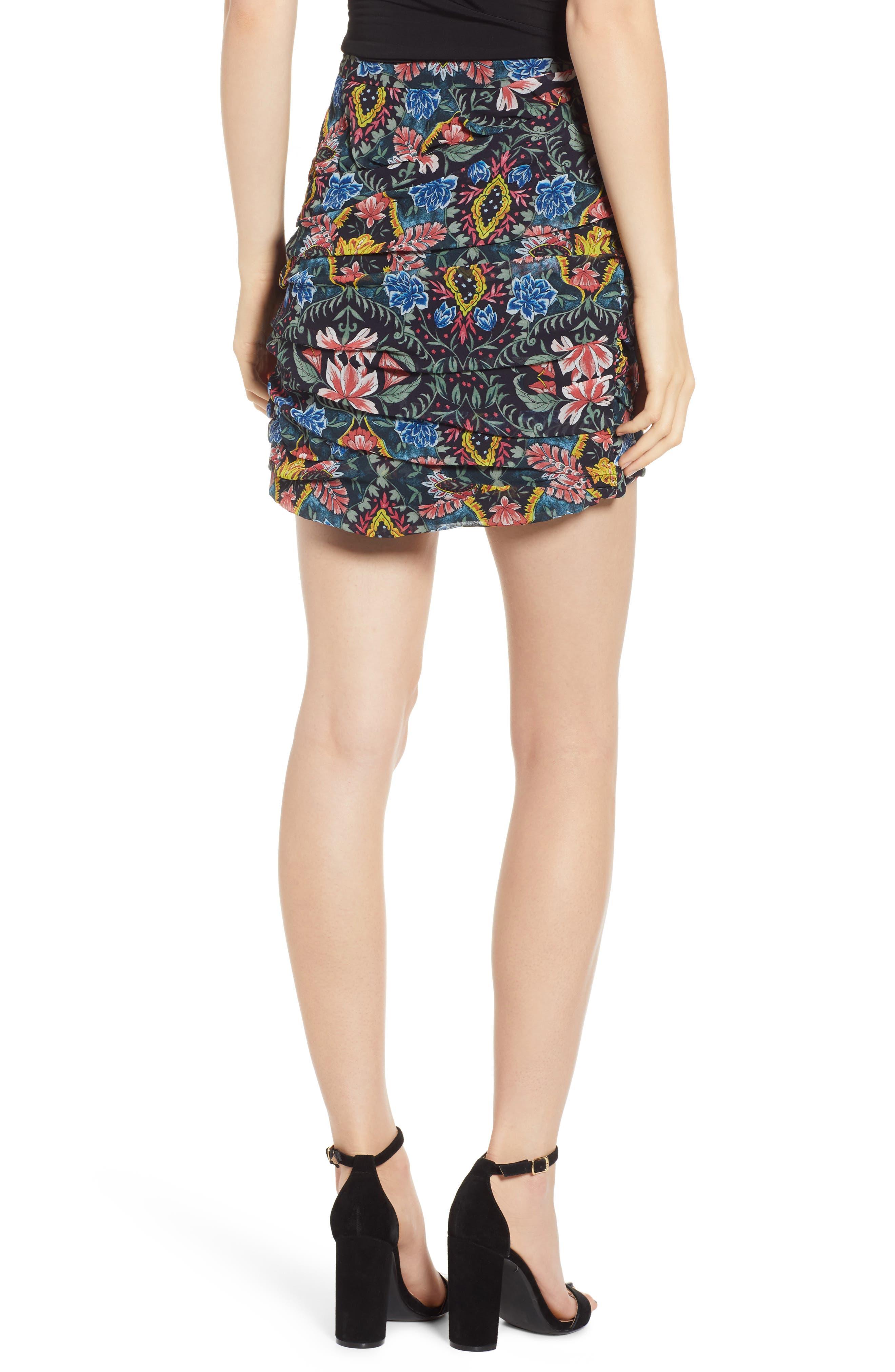 Adalynn Floral Miniskirt,                             Alternate thumbnail 2, color,                             MULTI