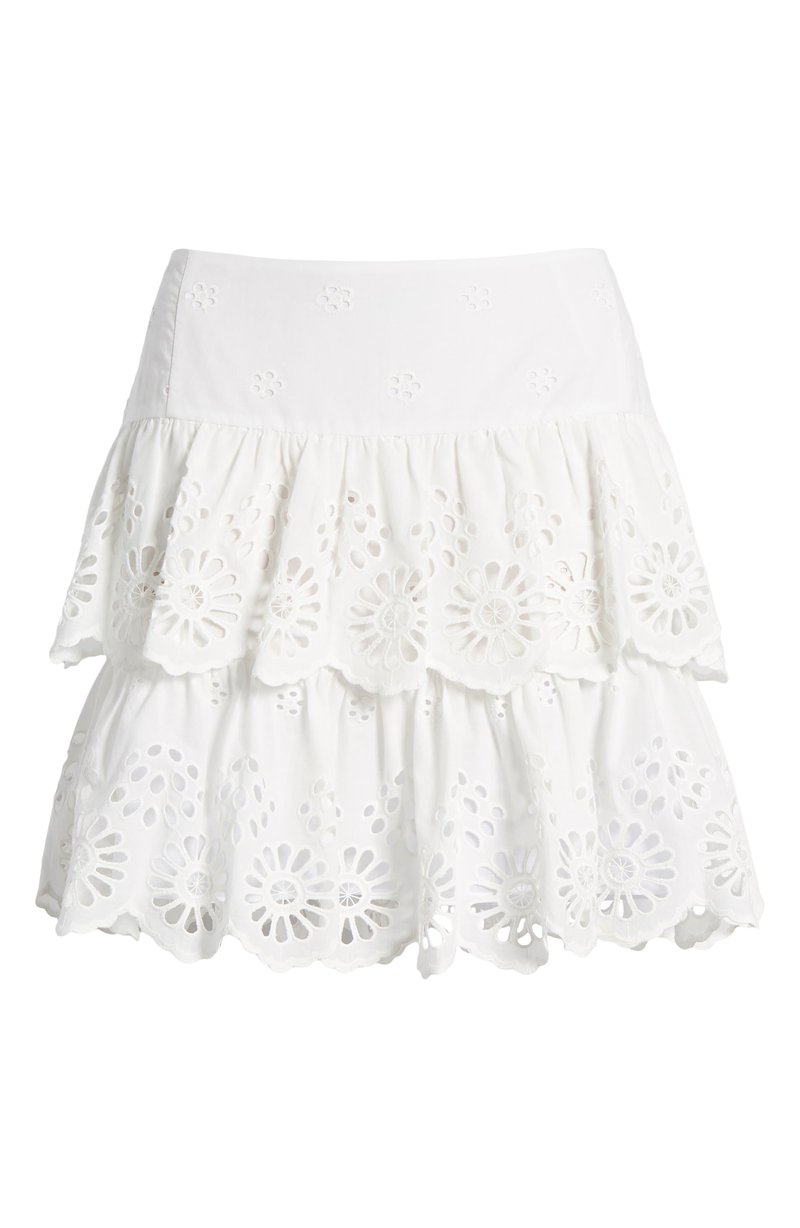 Nell Skirt,                             Alternate thumbnail 6, color,                             WHITE