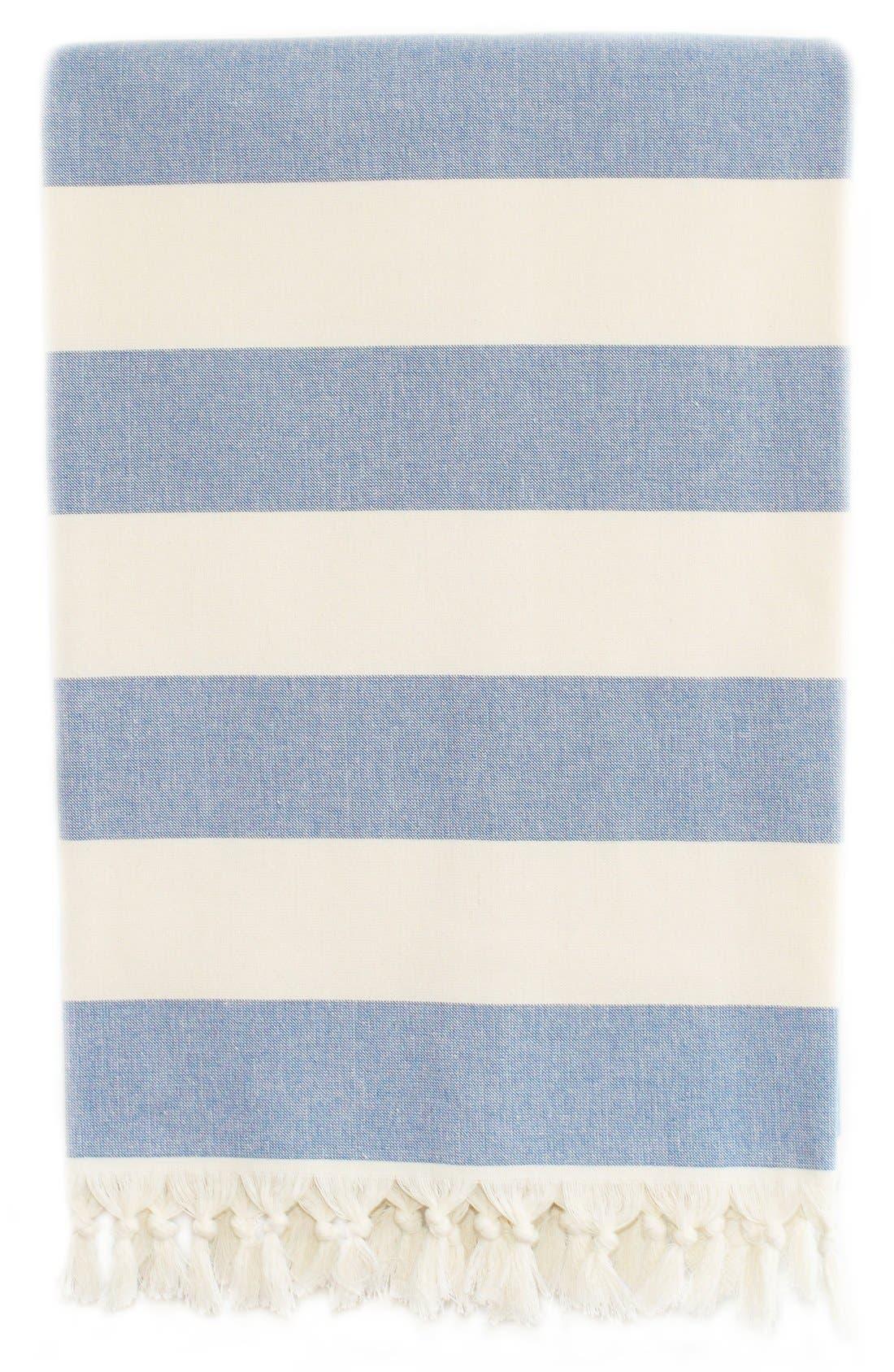 'Patara' Turkish Pestemal Towel,                             Alternate thumbnail 2, color,                             ROYAL BLUE