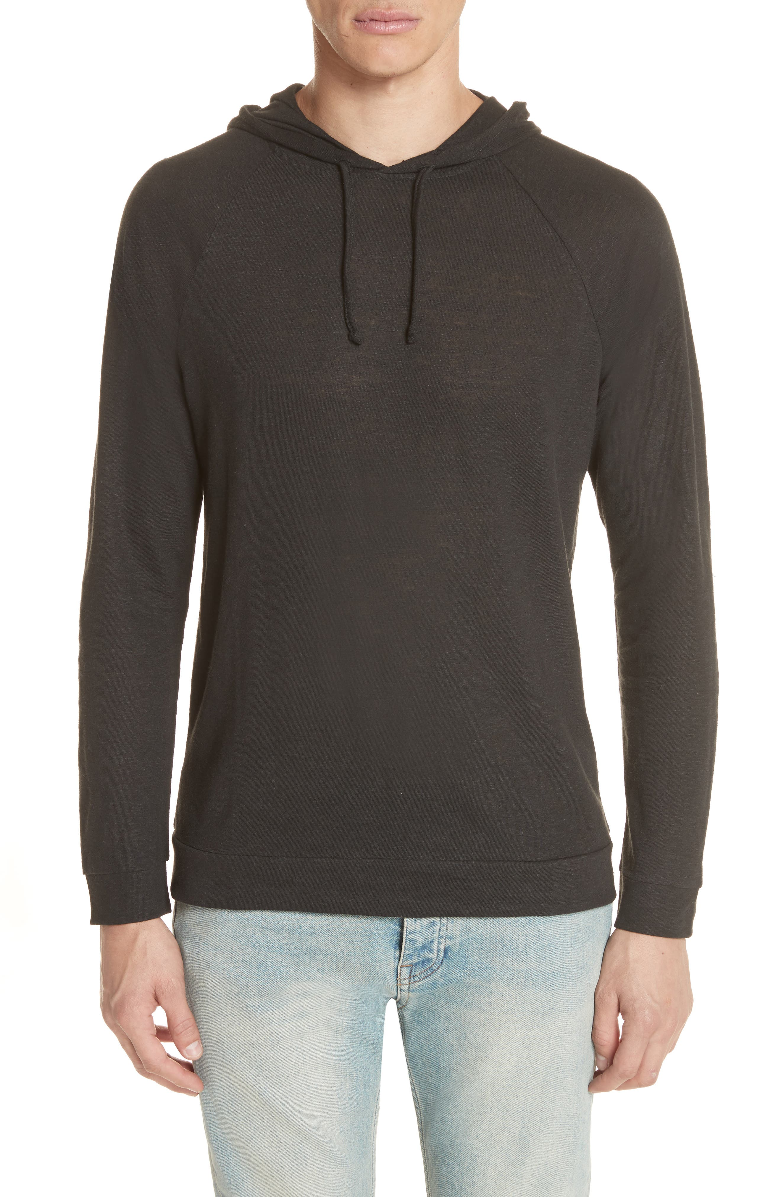 Pullover Hoodie,                         Main,                         color, BLACK
