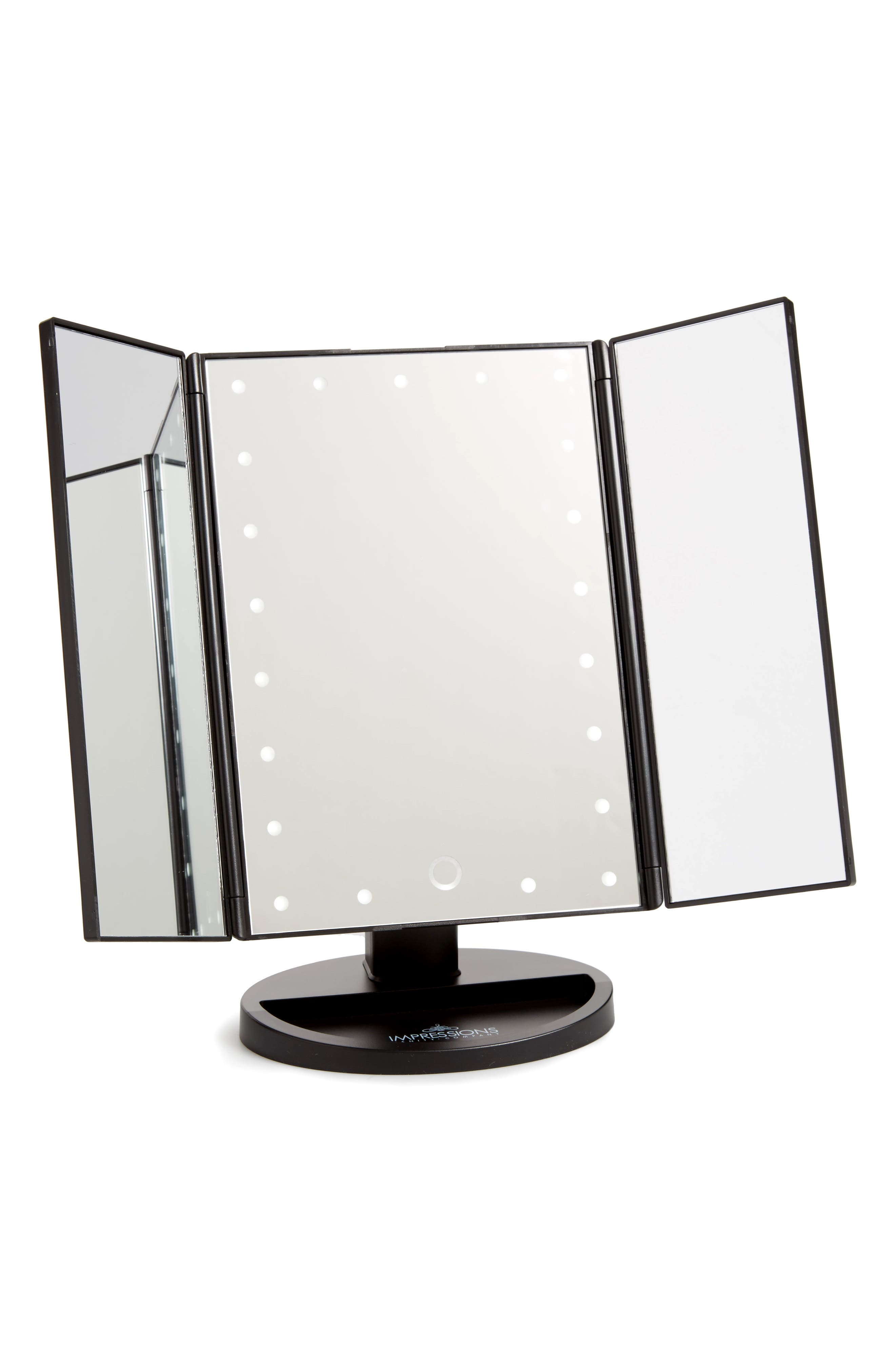 Touch 3.0 LED Trifold Makeup Mirror,                         Main,                         color,