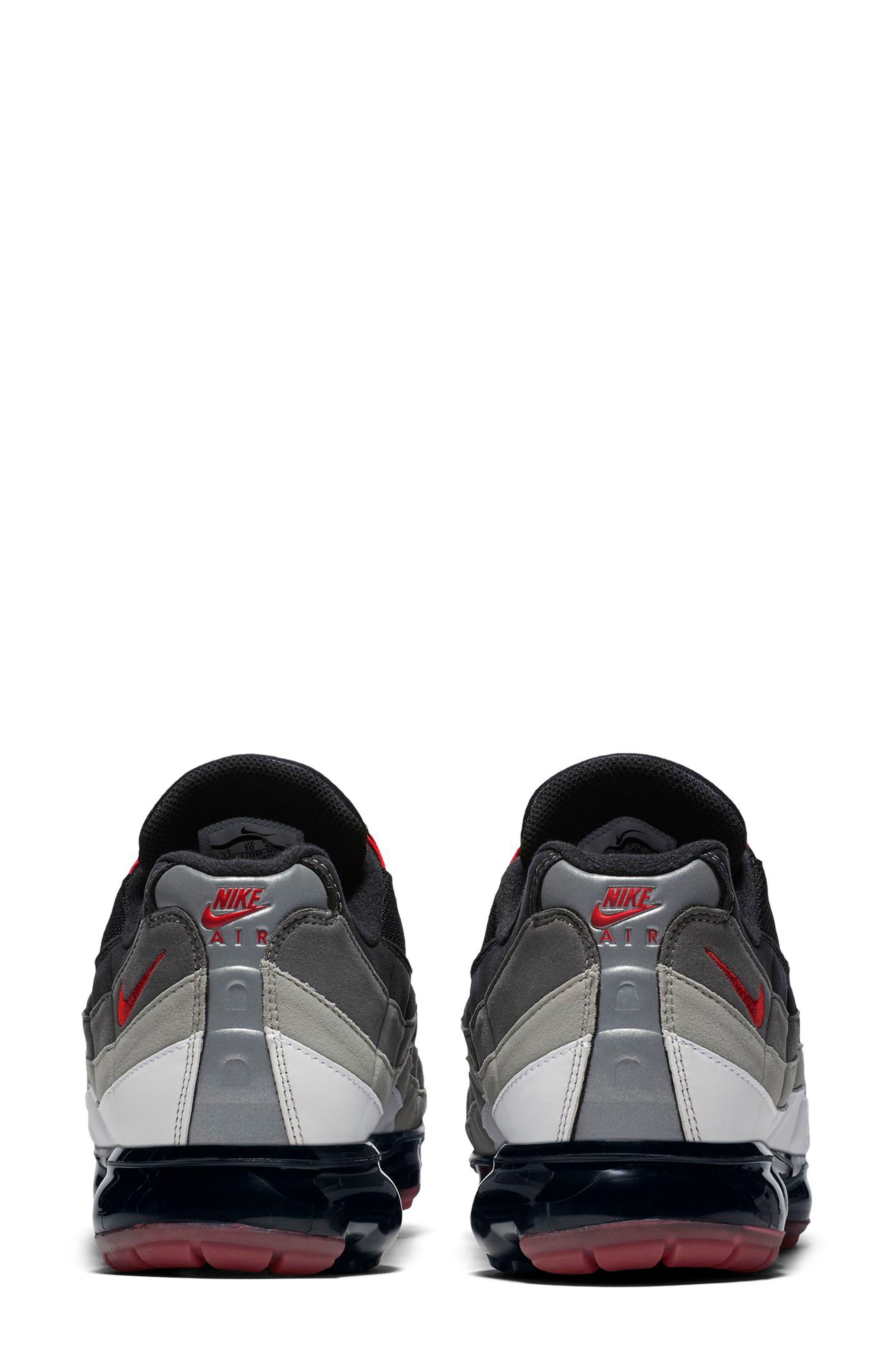 Air VaporMax '95 Sneaker,                             Alternate thumbnail 2, color,                             WHITE/ RED/ PEWTER/ GRANITE