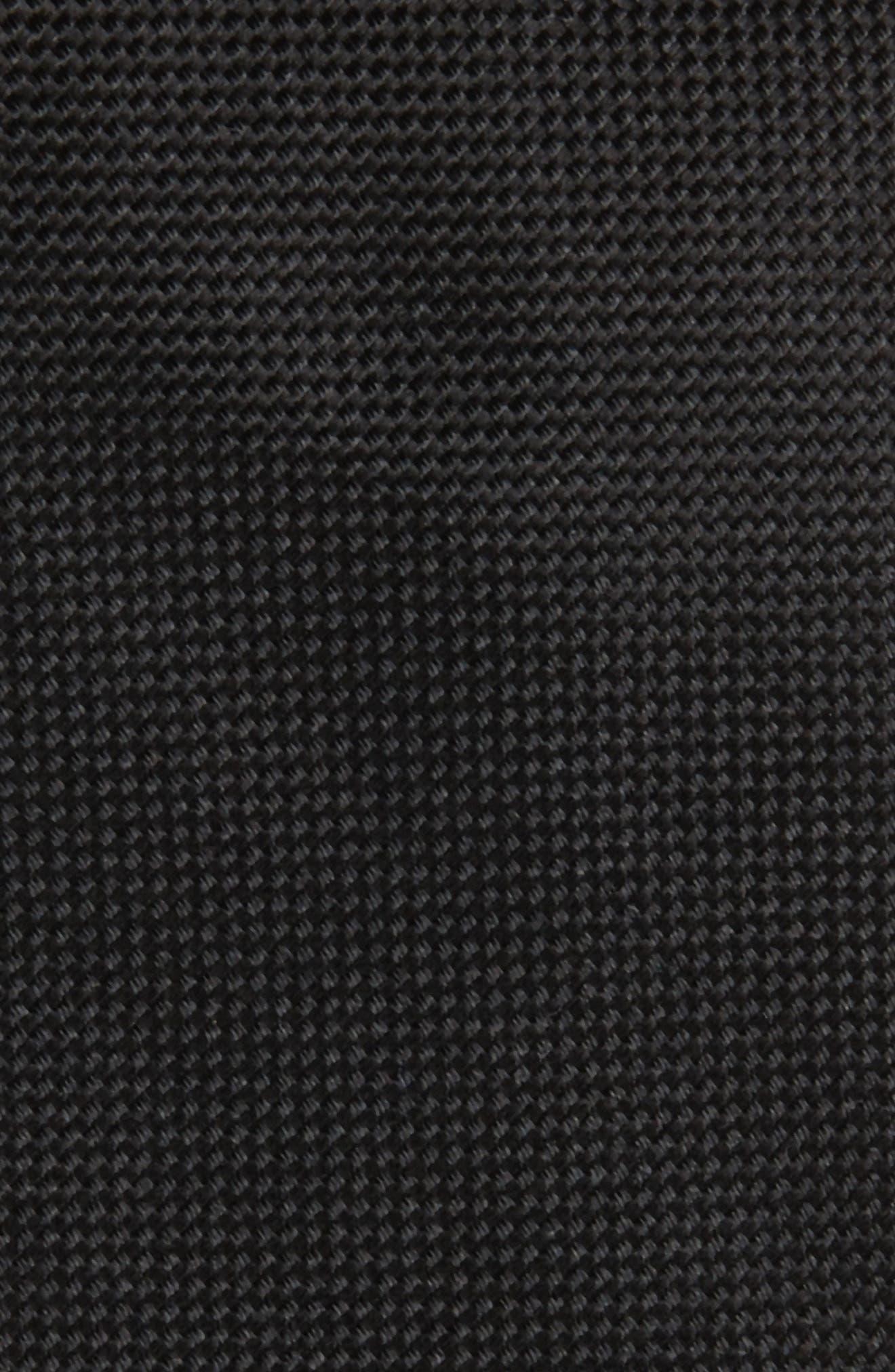 Oxford Solid Silk Skinny Tie,                             Alternate thumbnail 2, color,                             001