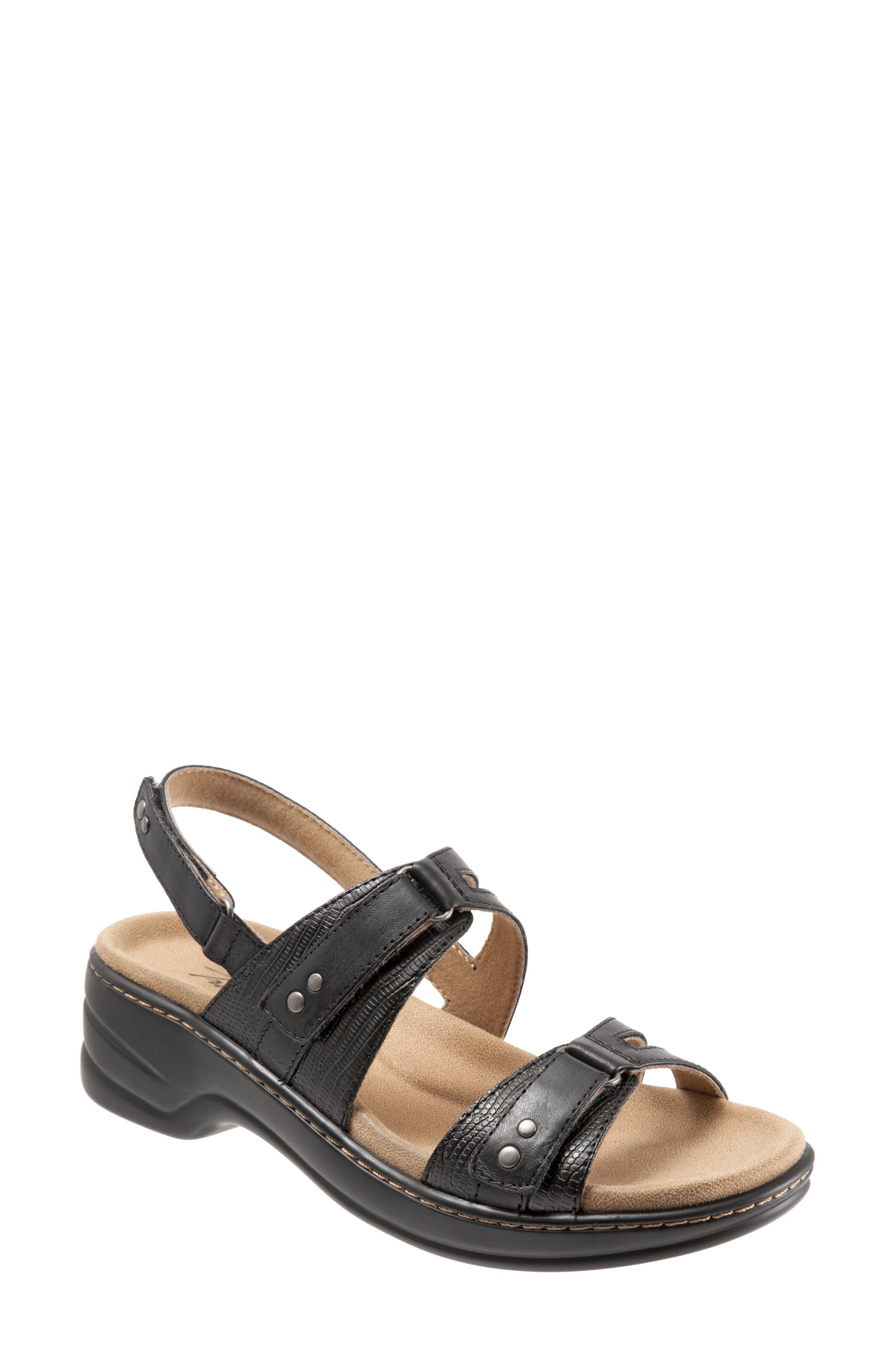 Newton Sandal,                         Main,                         color, BLACK LEATHER