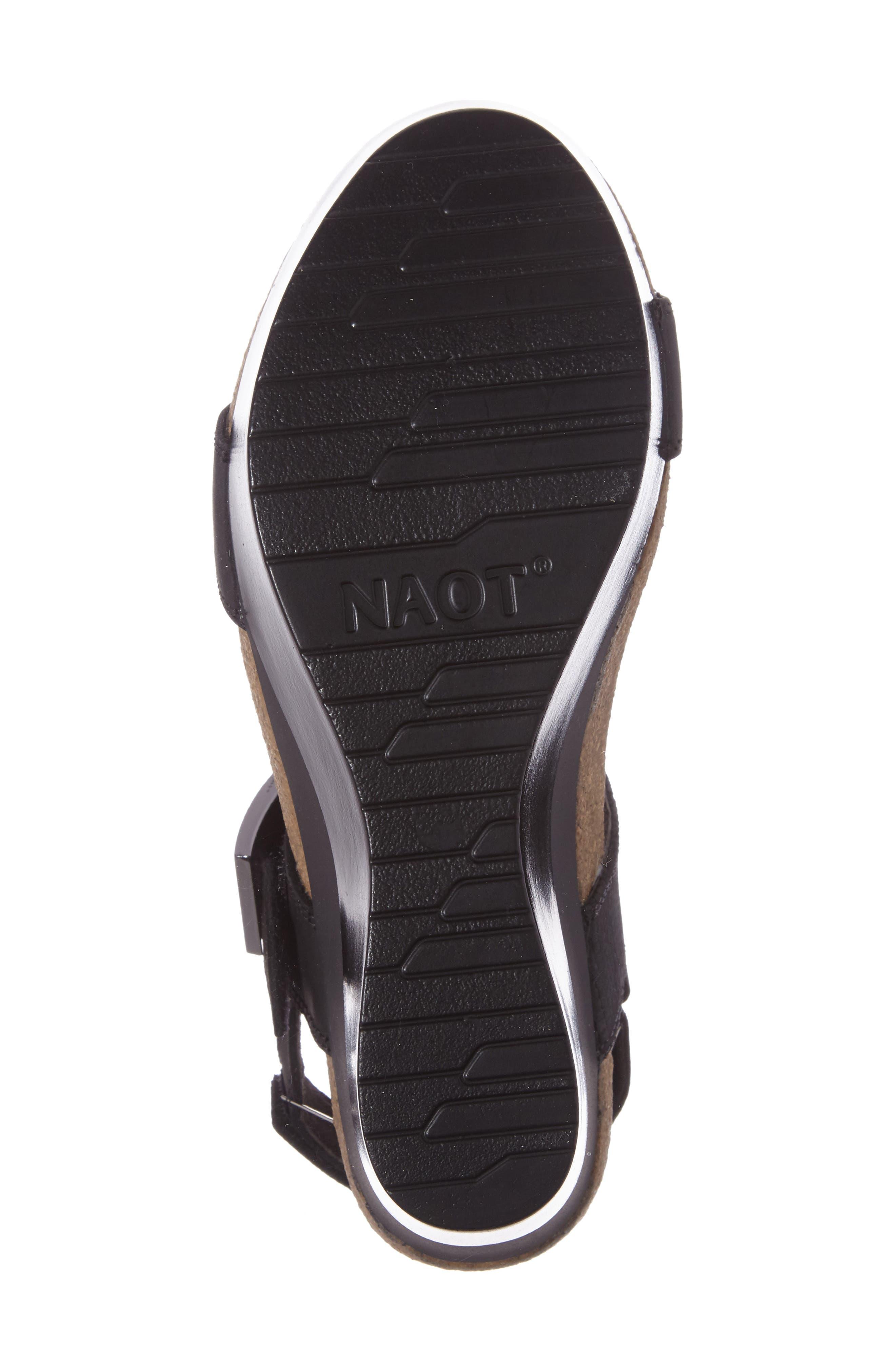 Alpha Platform Wedge Sandal Sandal,                             Alternate thumbnail 4, color,                             020