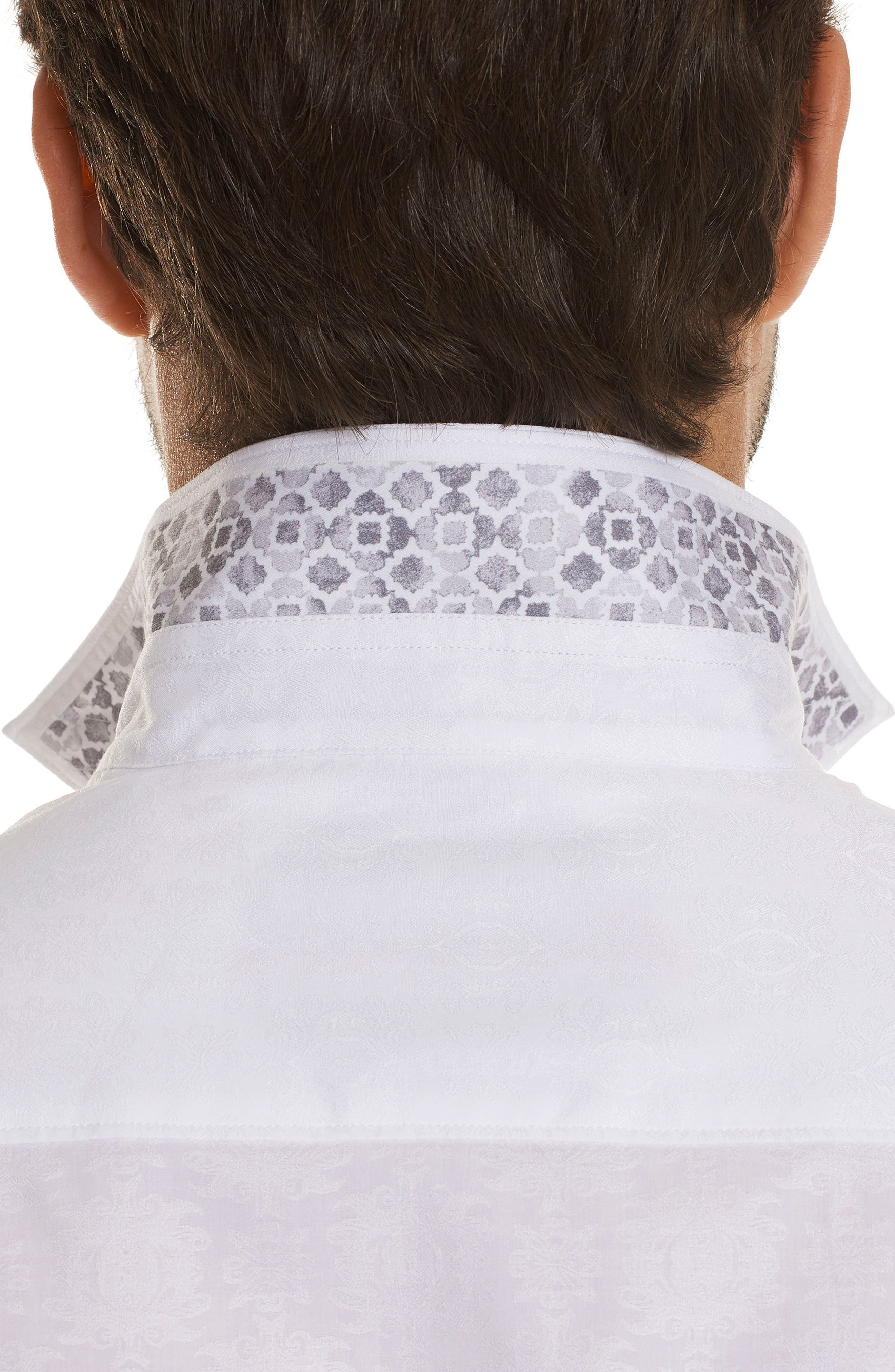 Cullen Squared Regular Fit Short Sleeve Sport Shirt,                             Alternate thumbnail 3, color,                             100