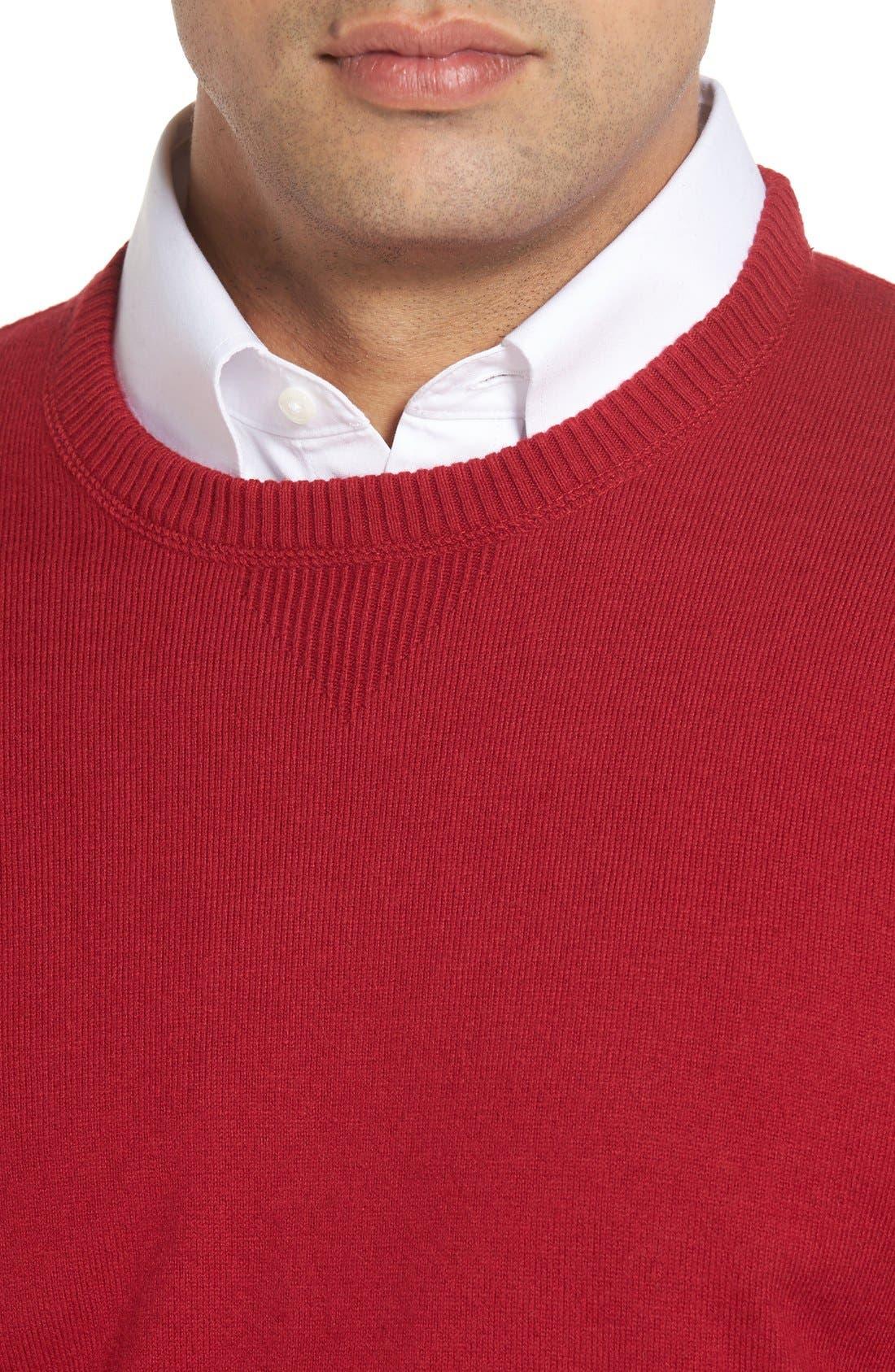 'Jersey Sport' Cotton Blend Crewneck Sweater,                             Alternate thumbnail 32, color,