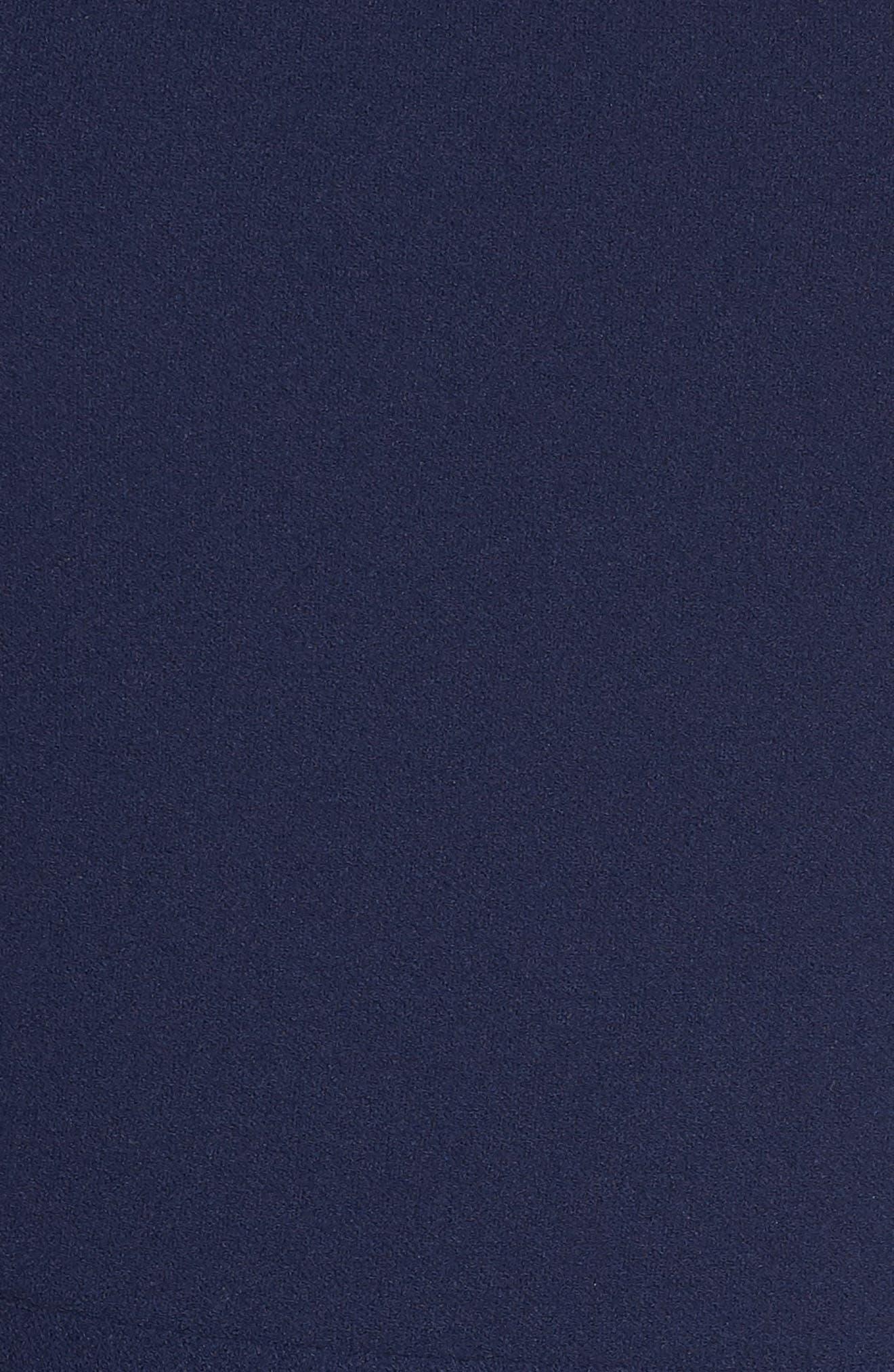 Annie Scuba Crepe Fit & Flare Dress,                             Alternate thumbnail 6, color,                             NAVY