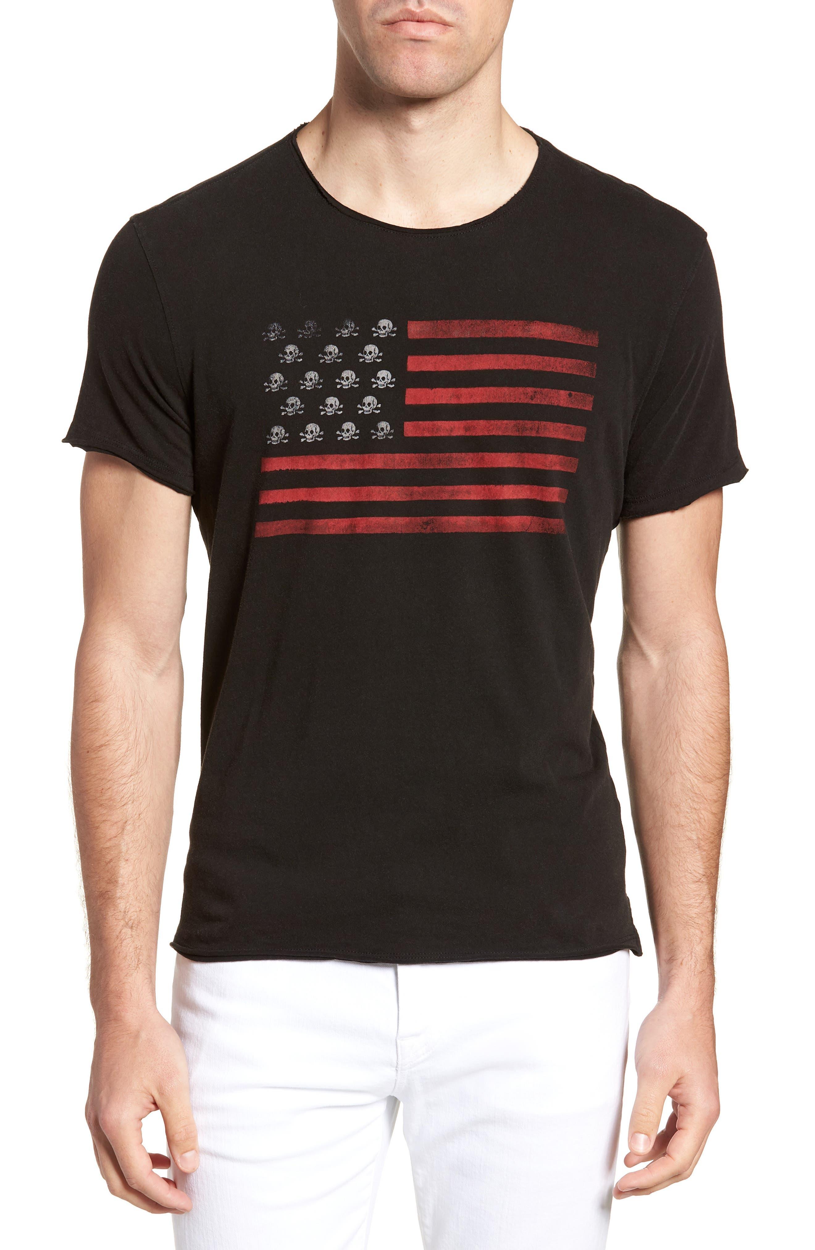 Skull Flag Crewneck T-Shirt,                         Main,                         color, 001