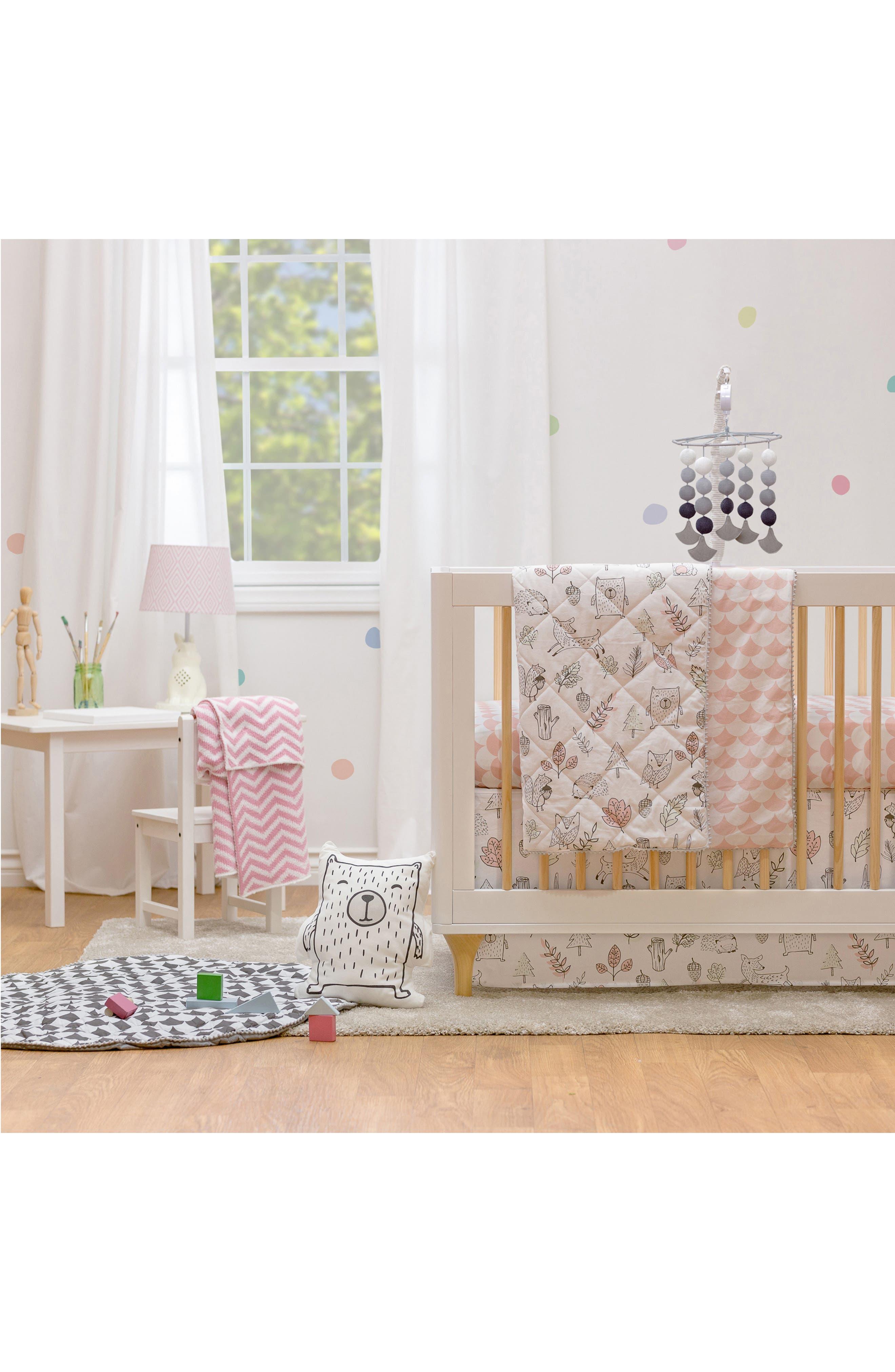 LIVING TEXTILES,                             Woodlands 4-Piece Crib Bedding Set,                             Alternate thumbnail 8, color,                             100