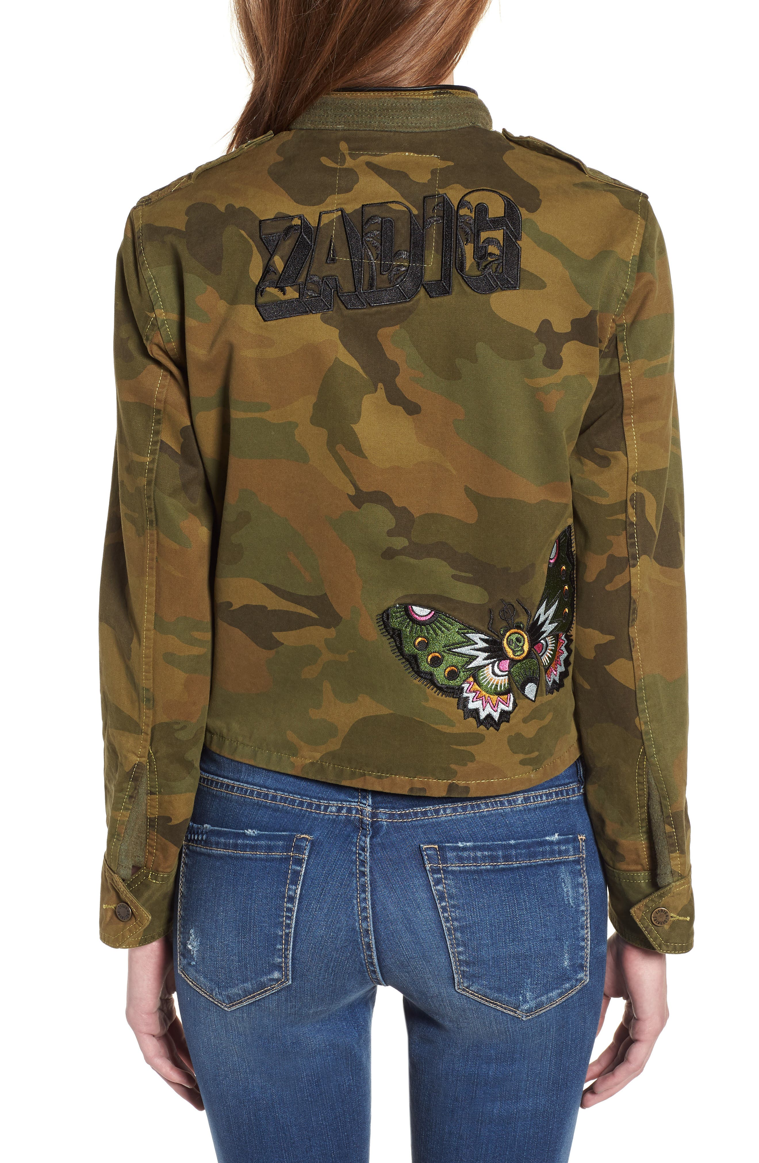 Kavys Embroidered Camo Jacket,                             Alternate thumbnail 2, color,