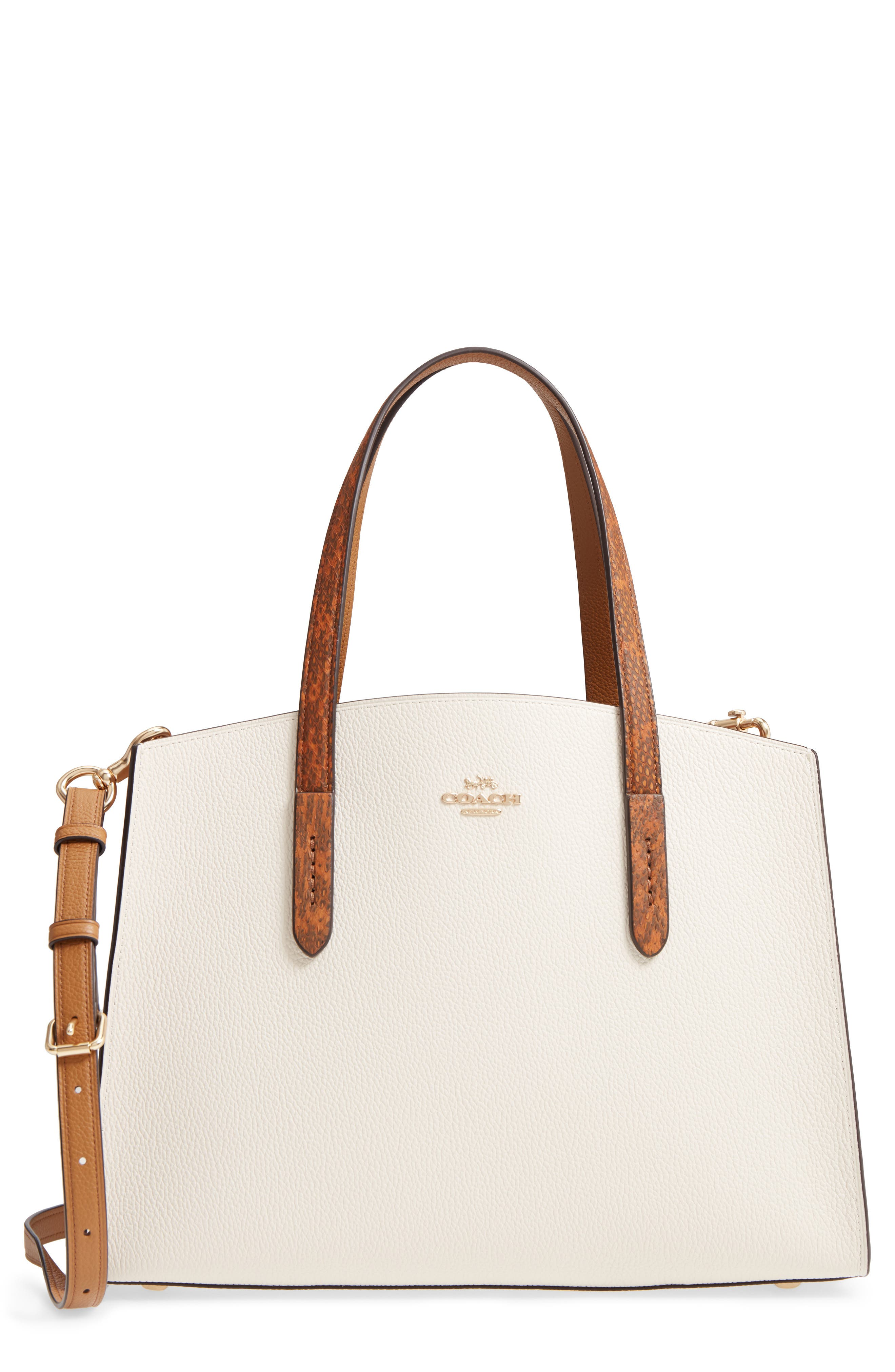 Charlie Genuine Snakeskin & Leather Tote,                             Main thumbnail 1, color,                             900