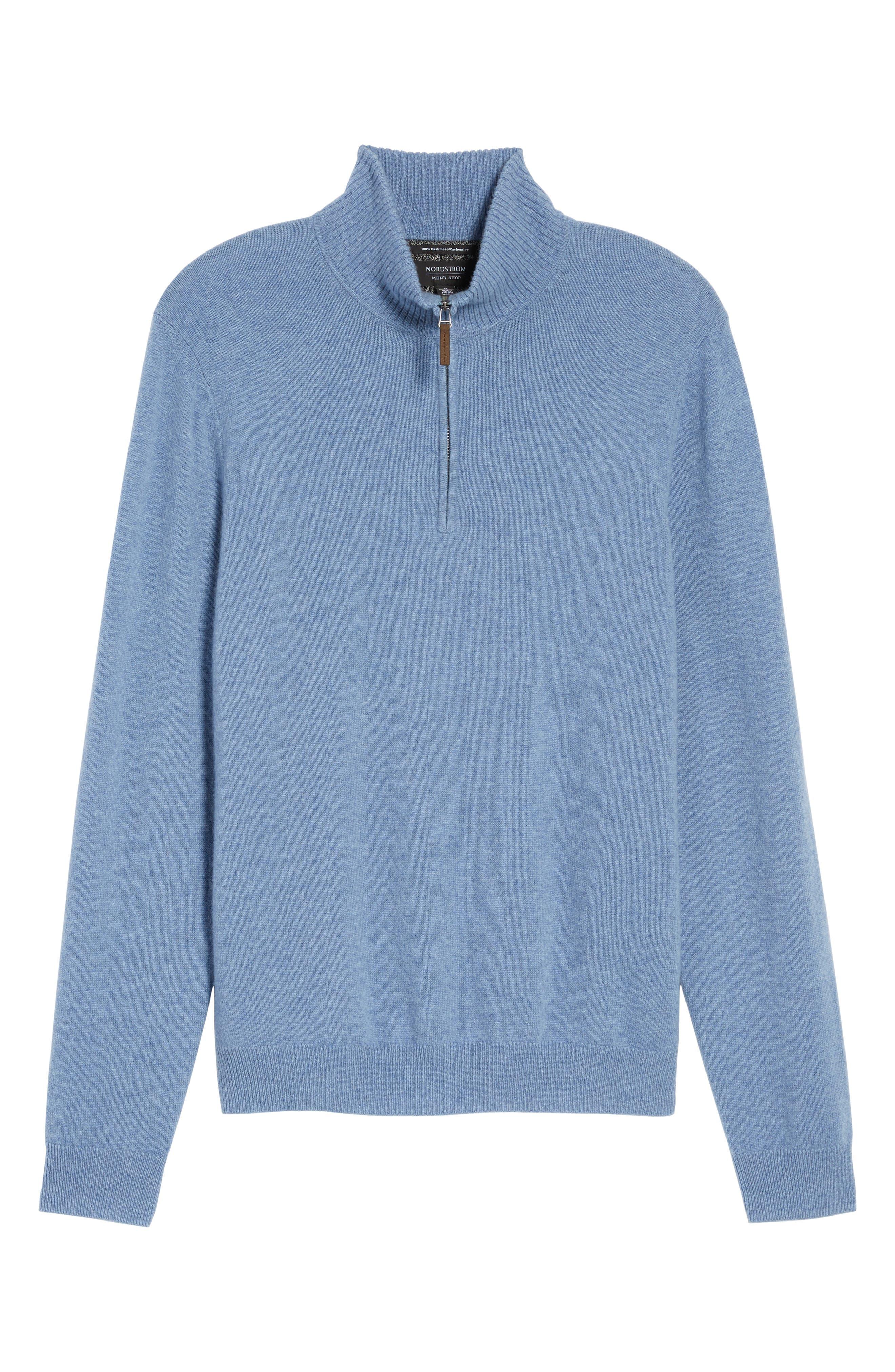 Cashmere Quarter Zip Sweater,                             Alternate thumbnail 51, color,