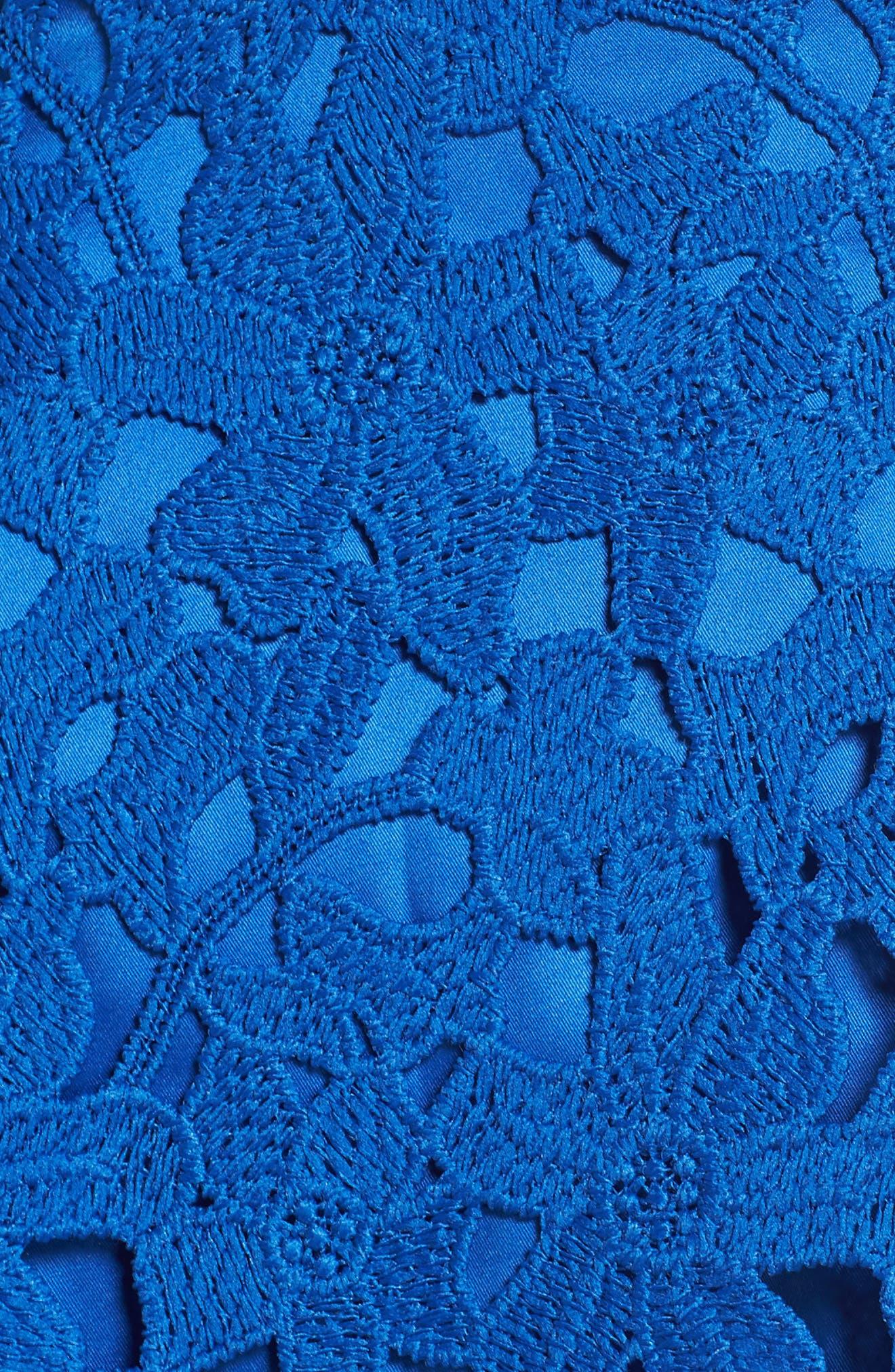 Lace Fit & Flare Dress,                             Alternate thumbnail 6, color,                             491