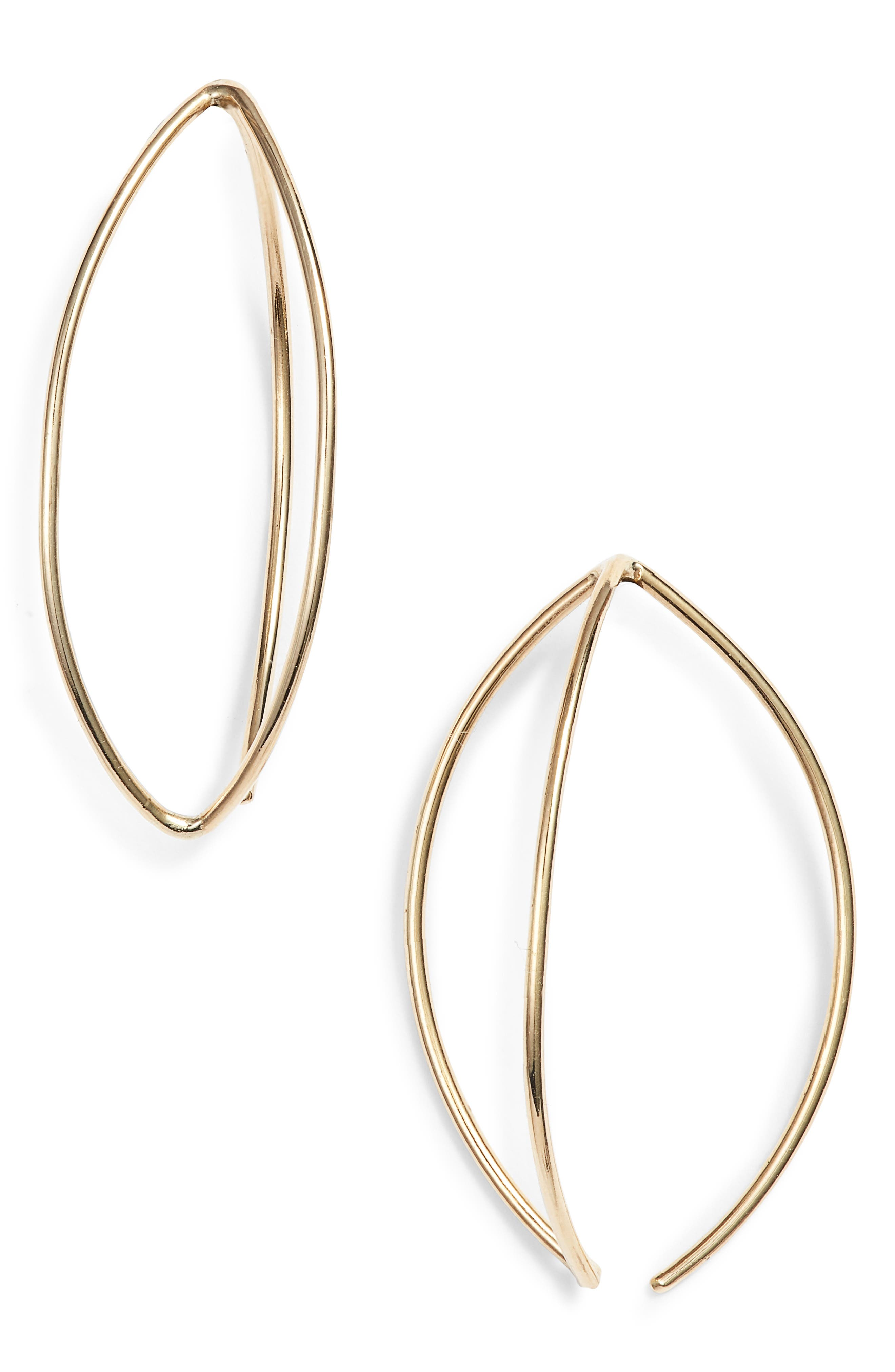 Oval Earrings,                         Main,                         color, GOLD
