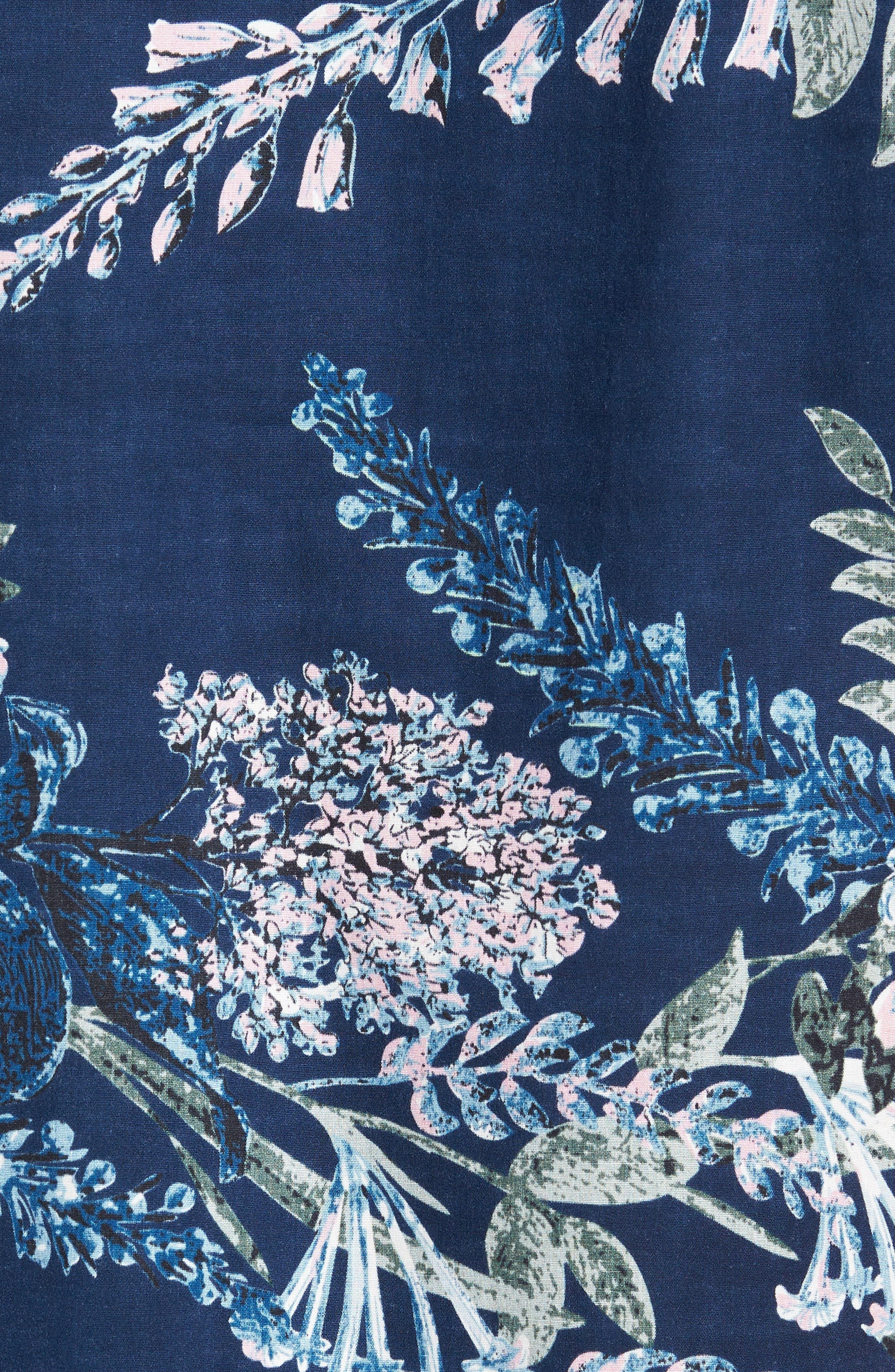 Conversation Peace Floral Sport Shirt,                             Alternate thumbnail 5, color,                             440