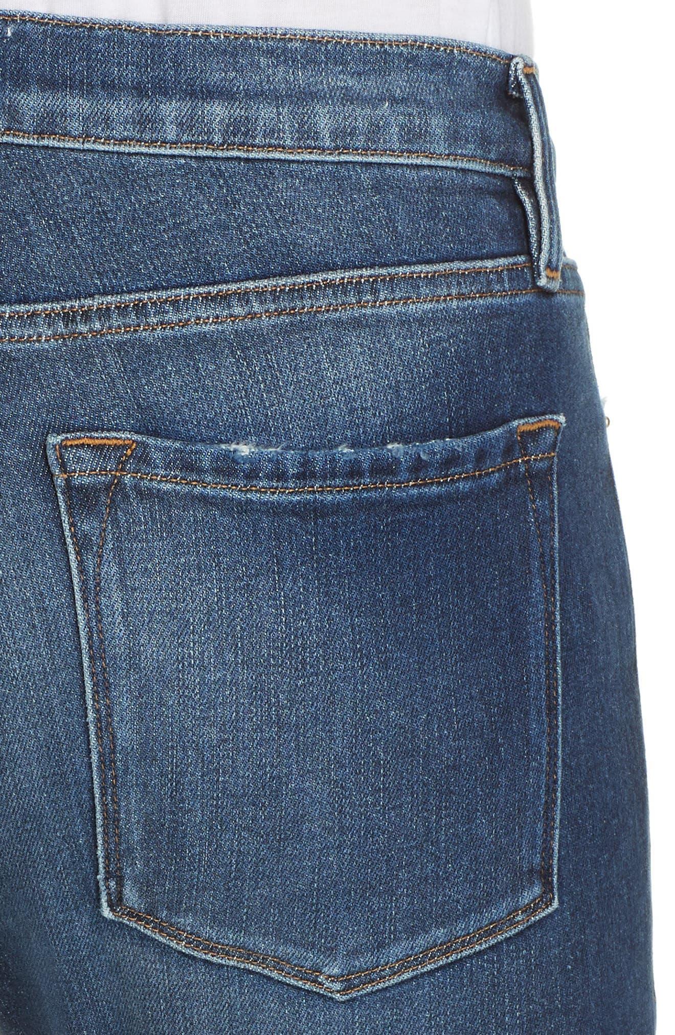 Le Garcon High Waist Ankle Slim Boyfriend Jeans,                             Alternate thumbnail 4, color,                             420