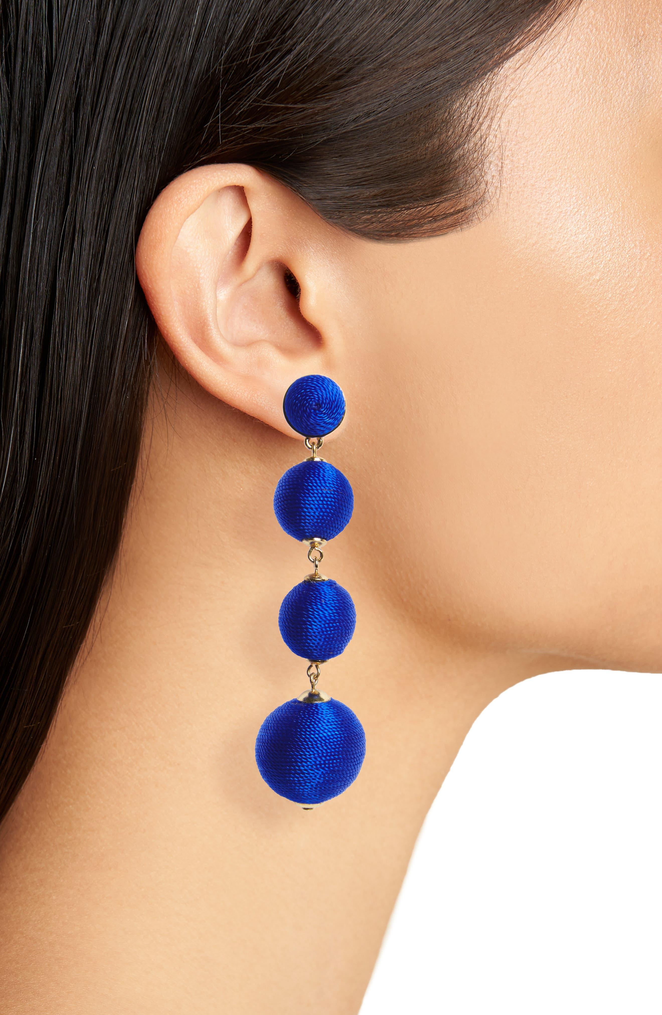 Criselda Ball Shoulder Duster Earrings,                             Alternate thumbnail 14, color,