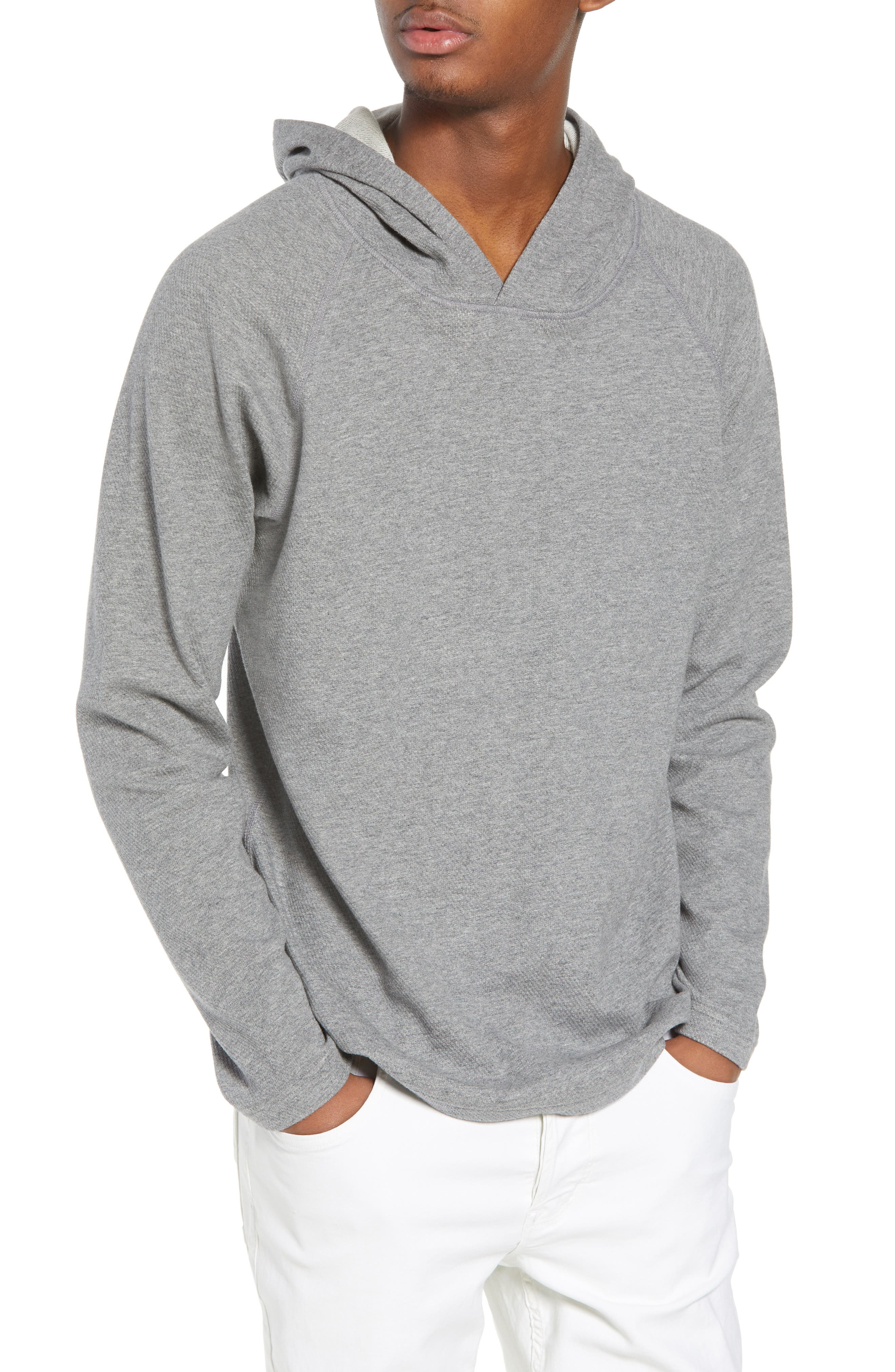Mesh Jersey Hoodie,                             Main thumbnail 1, color,                             HEATHER GREY