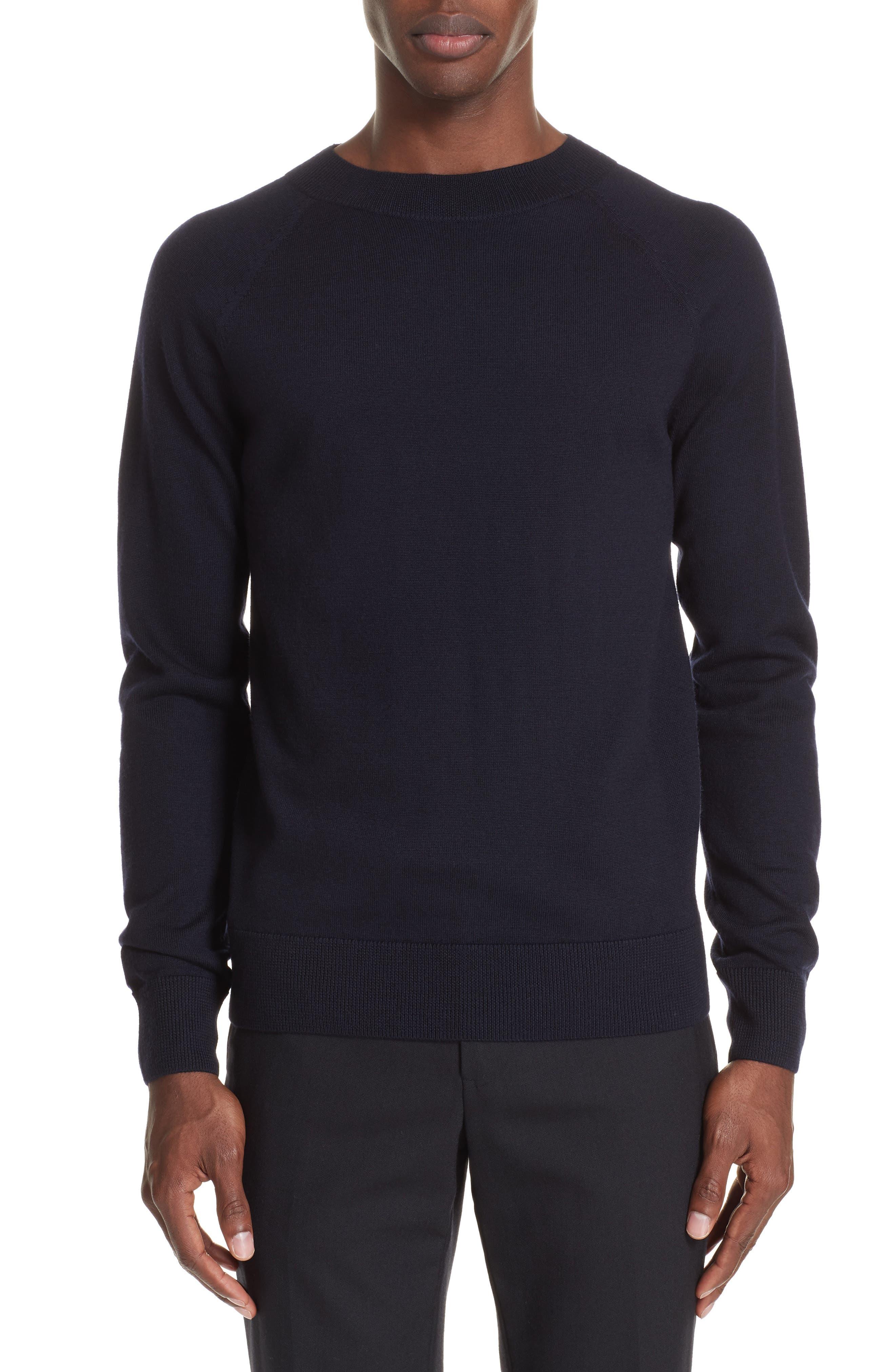 Mimic Raglan Sweater,                         Main,                         color, NAVY