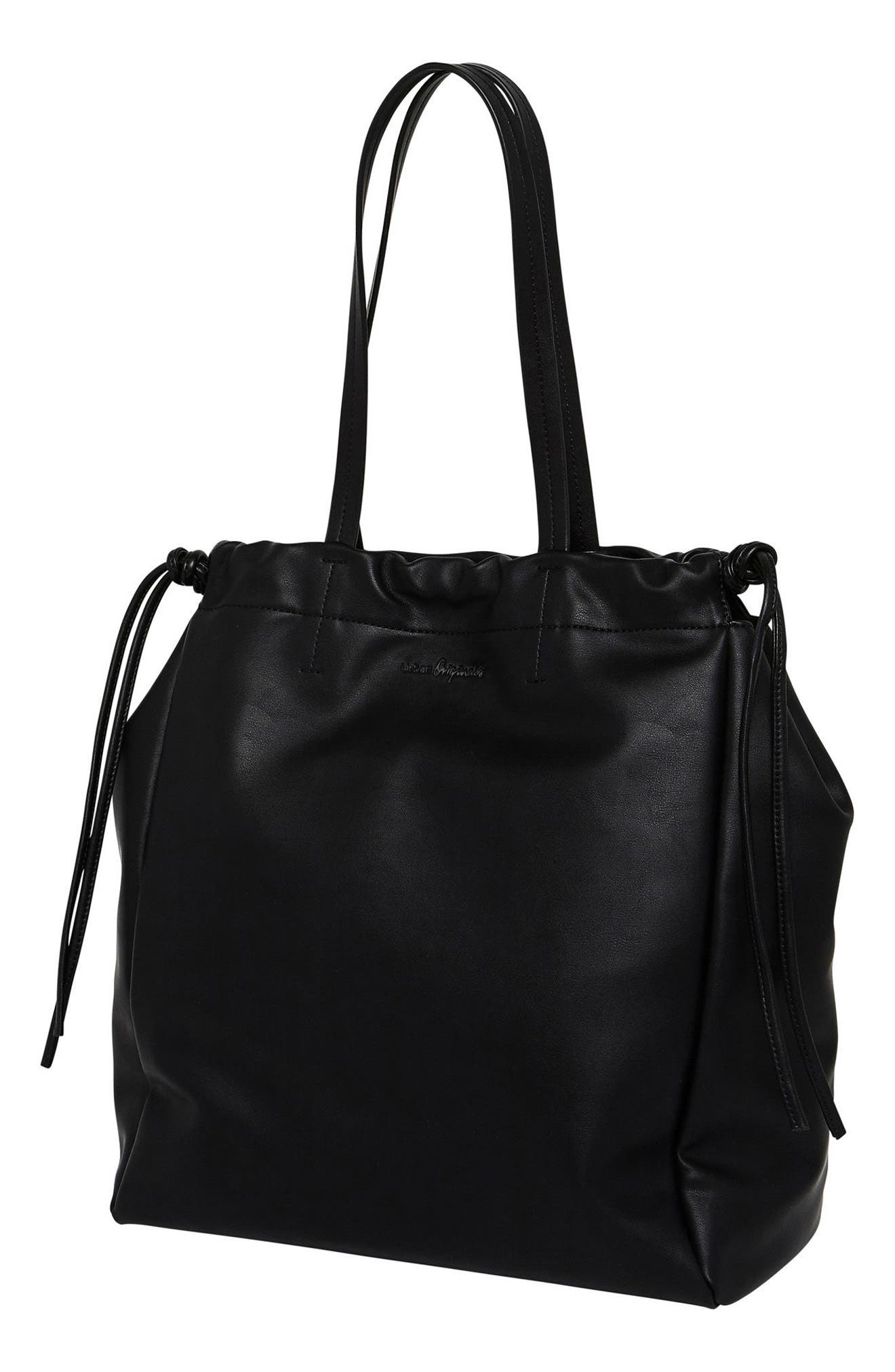 Light & Shadows Vegan Leather Tote,                             Alternate thumbnail 2, color,                             001