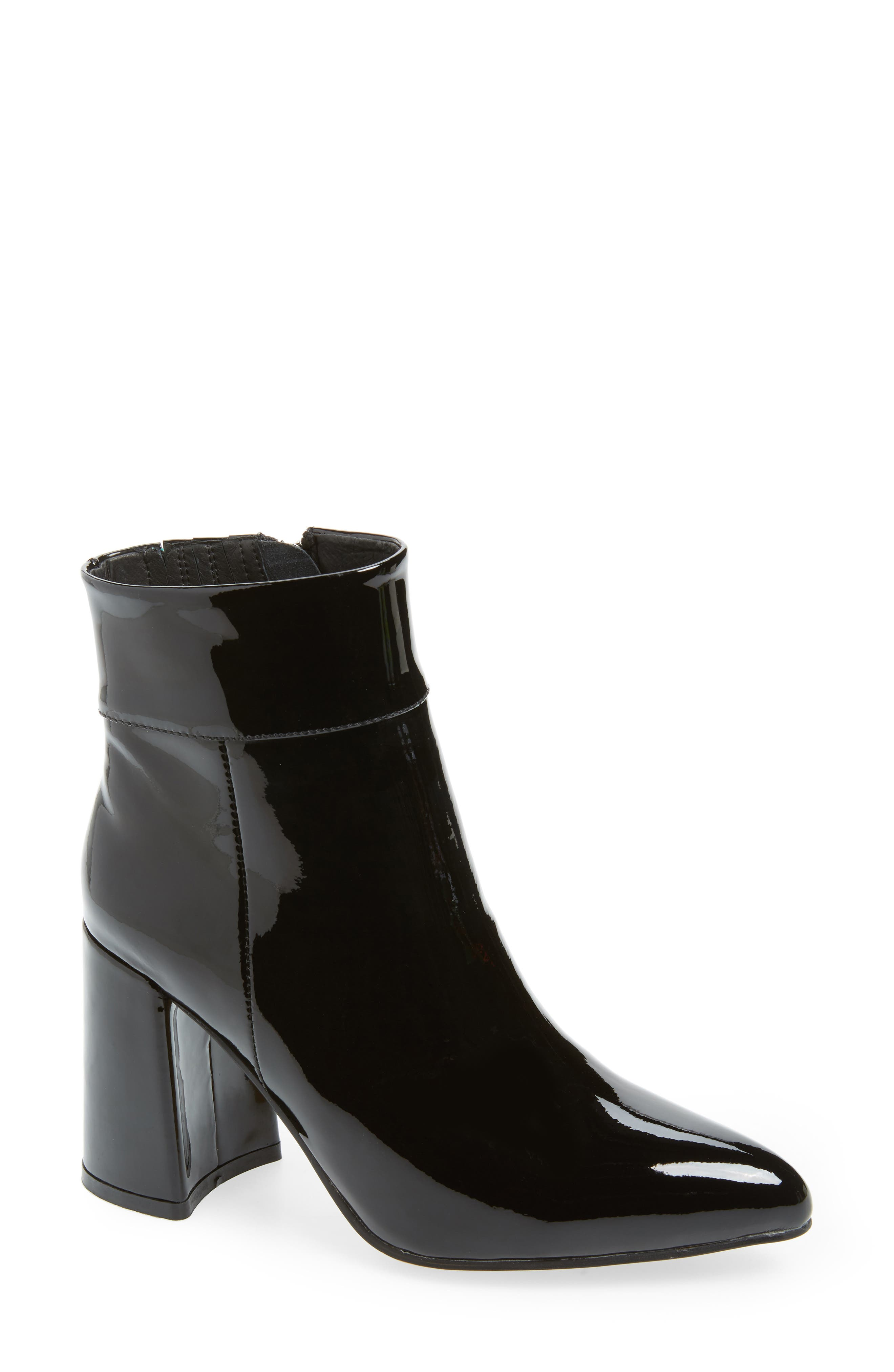 Beth Bootie in Black Patent Leather