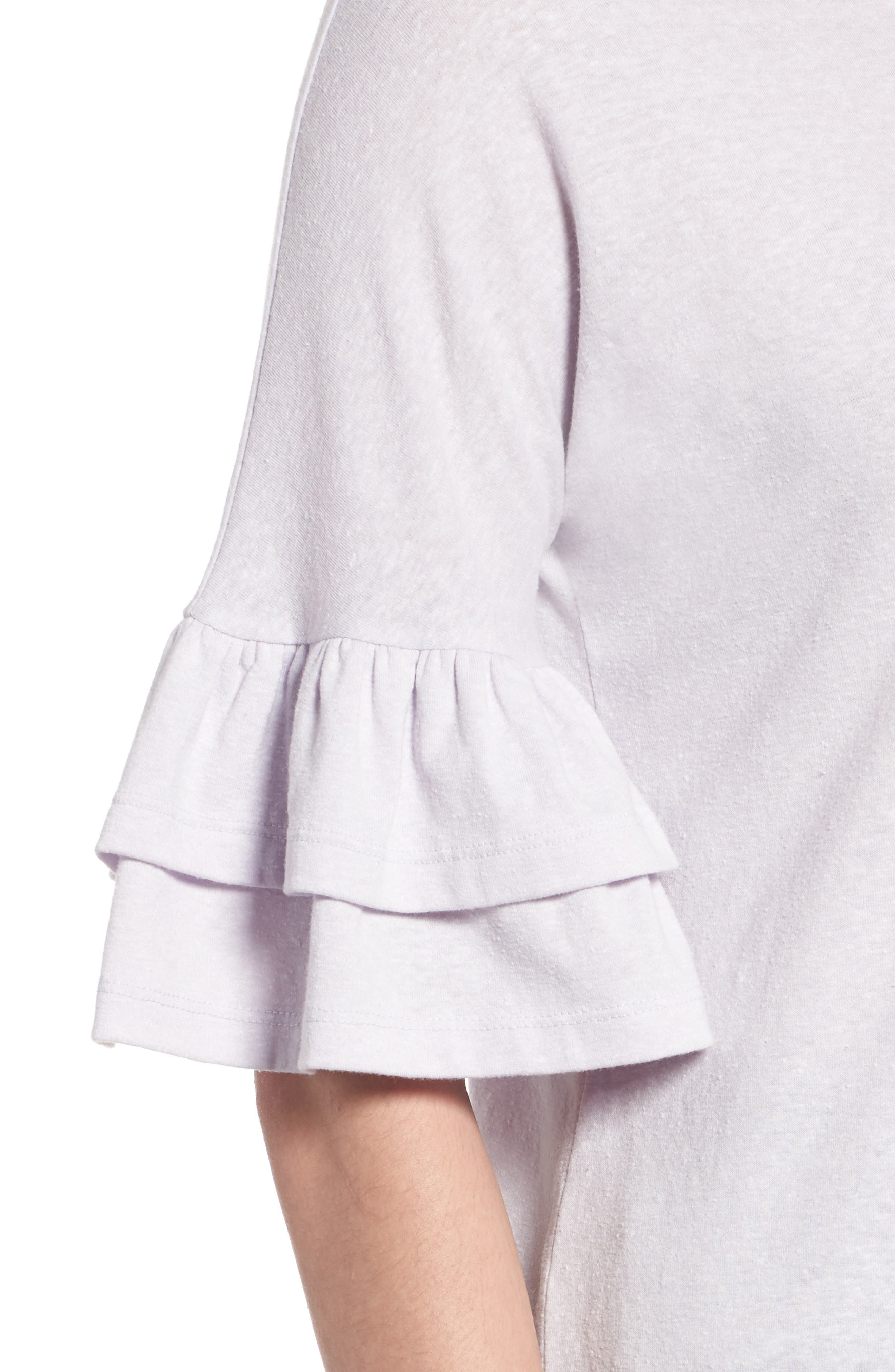 Tiered Bell Sleeve Tee,                             Alternate thumbnail 31, color,