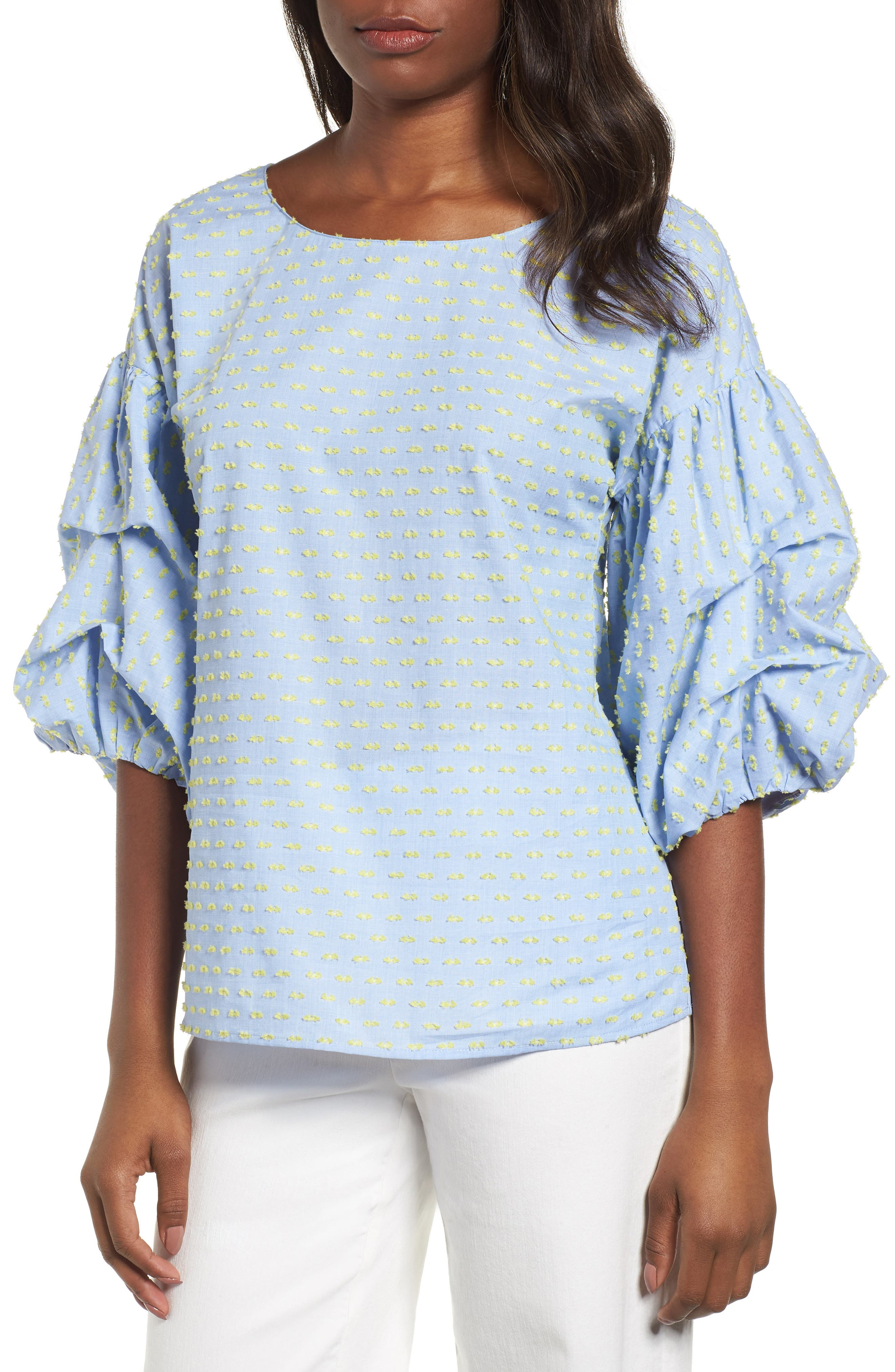 Balloon Sleeve Top,                         Main,                         color, 450