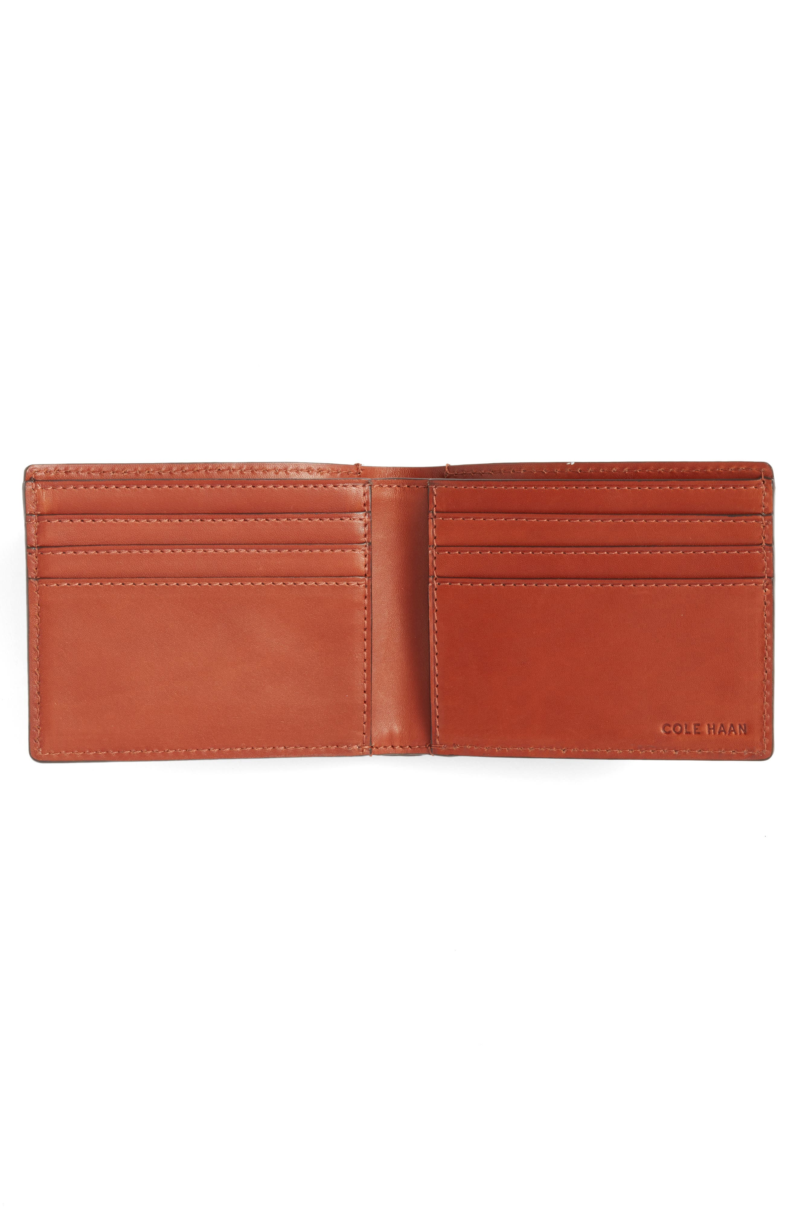 Bifold Leather Wallet with Pass Case,                             Alternate thumbnail 4, color,