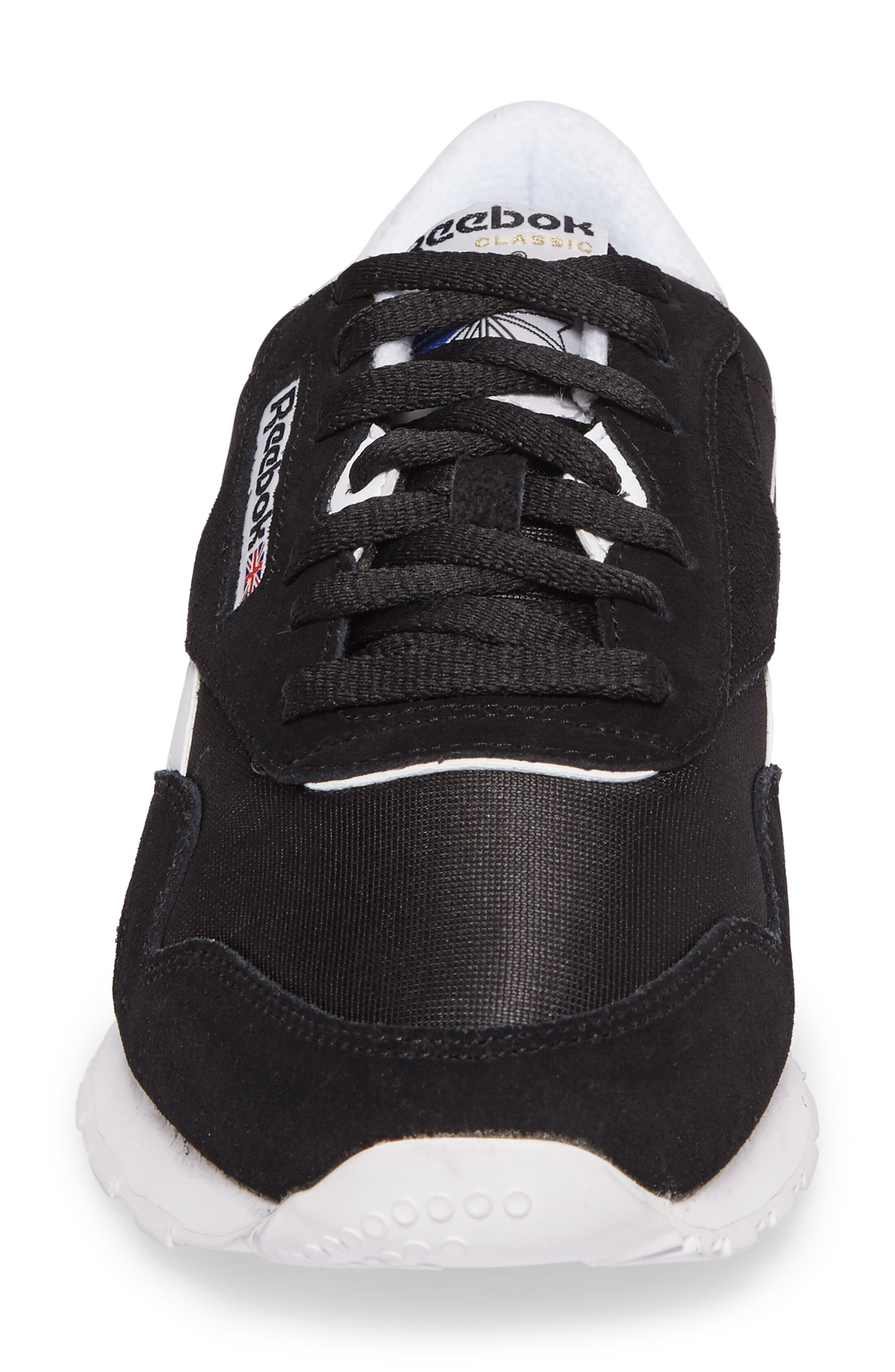 Classic Nylon Sneaker,                             Alternate thumbnail 4, color,                             001
