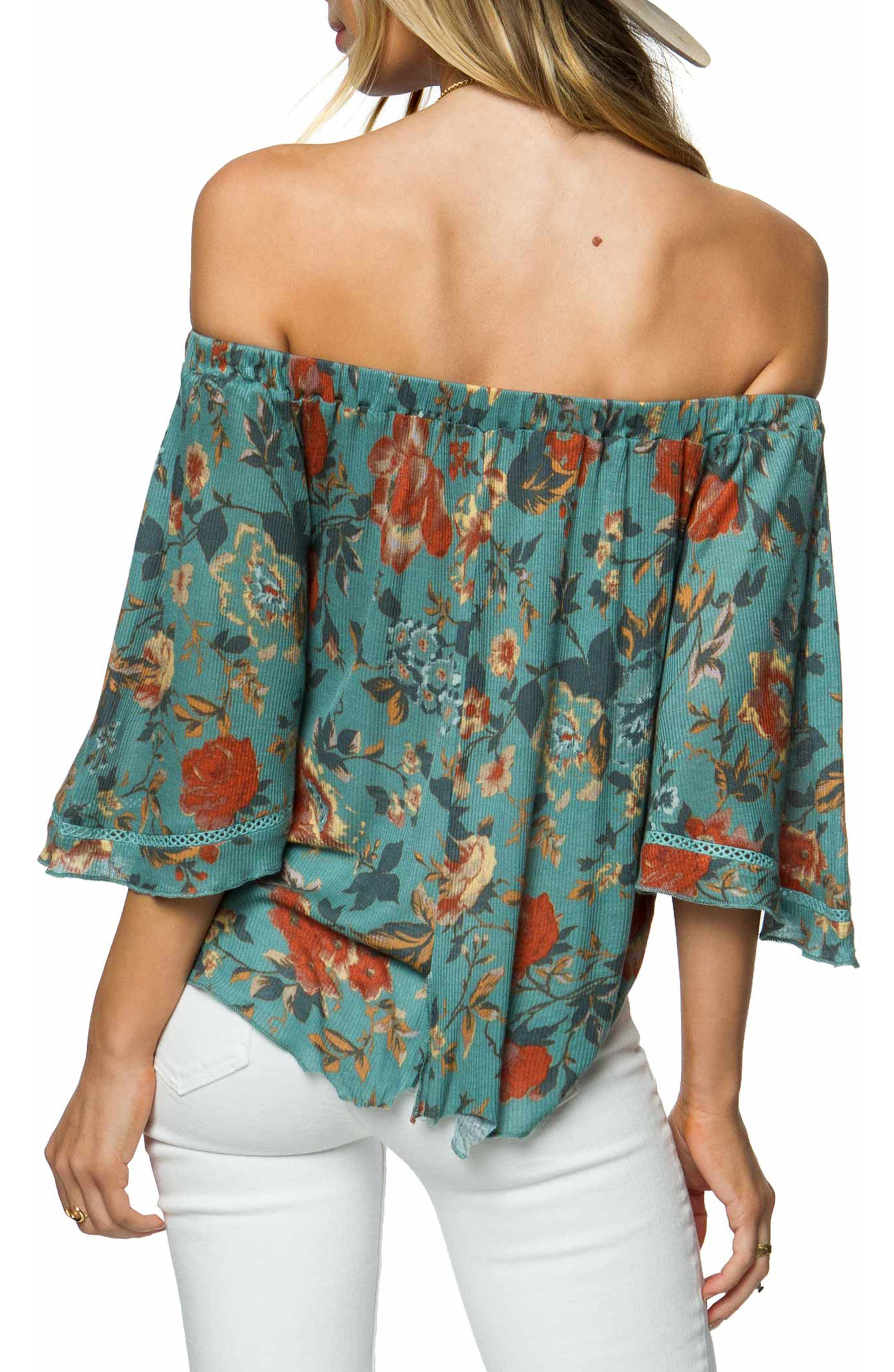 Rudy Off the Shoulder Top,                             Alternate thumbnail 2, color,