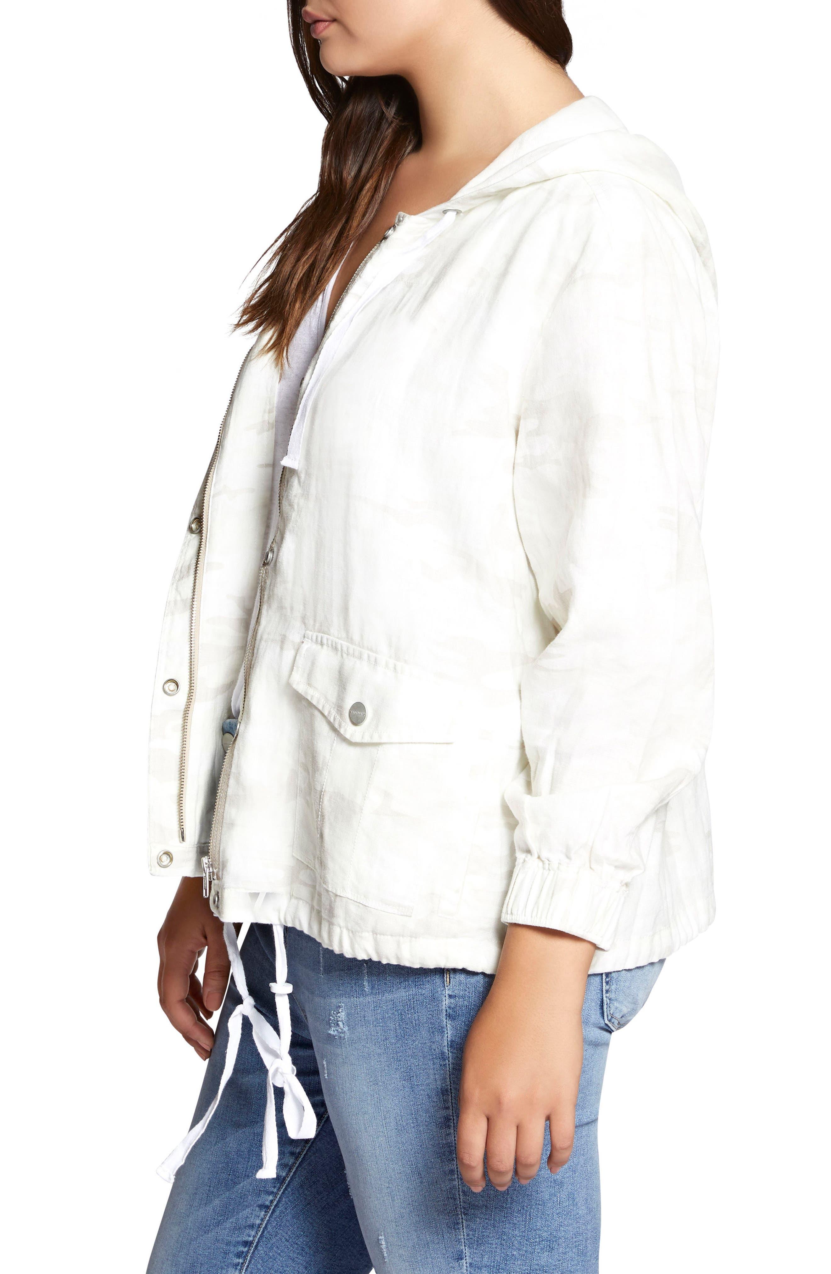Nova Hooded Jacket,                             Alternate thumbnail 3, color,                             WHITE CAMO