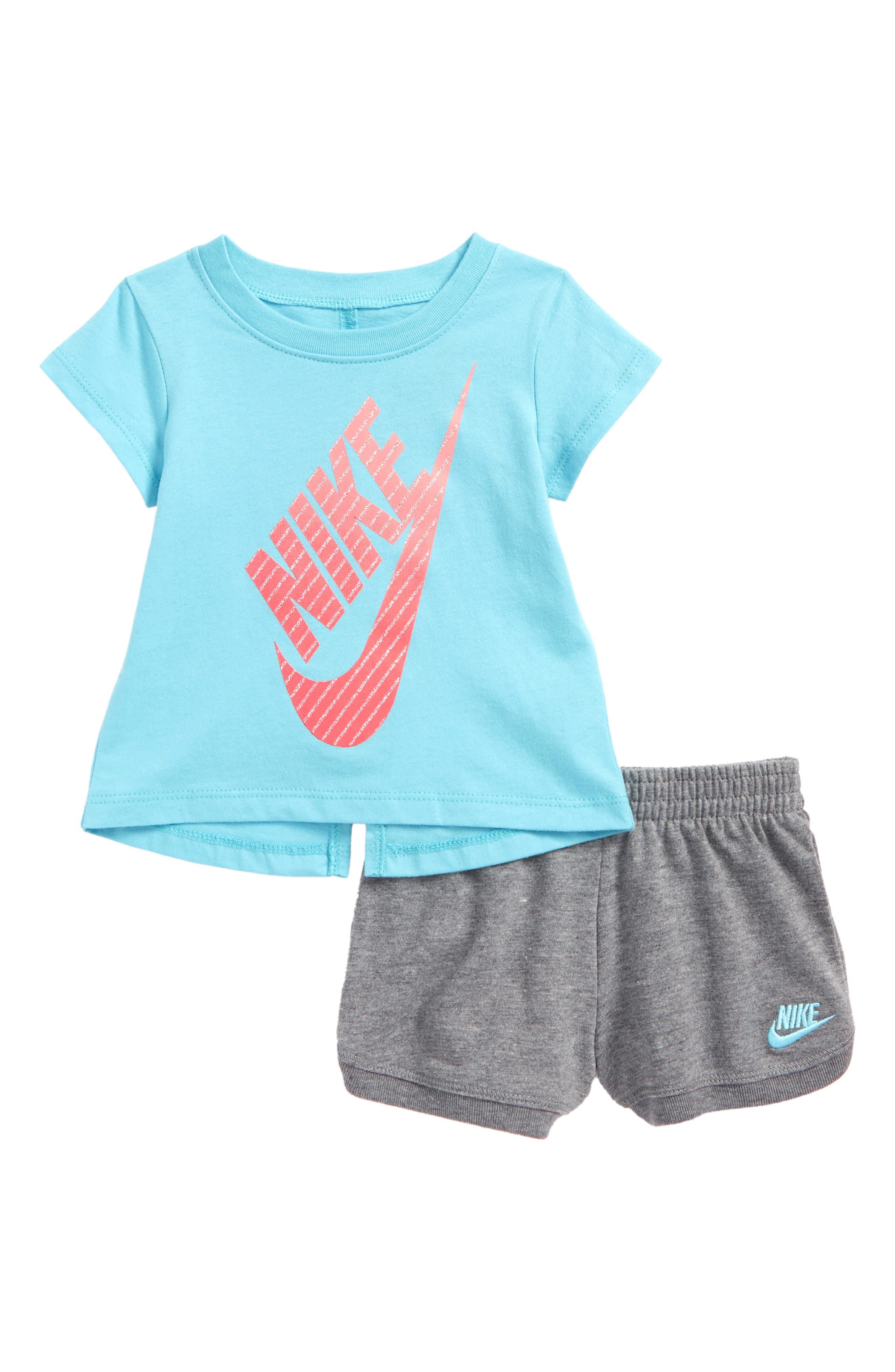 Gradient Futura Tee & Shorts Set,                         Main,                         color, 020