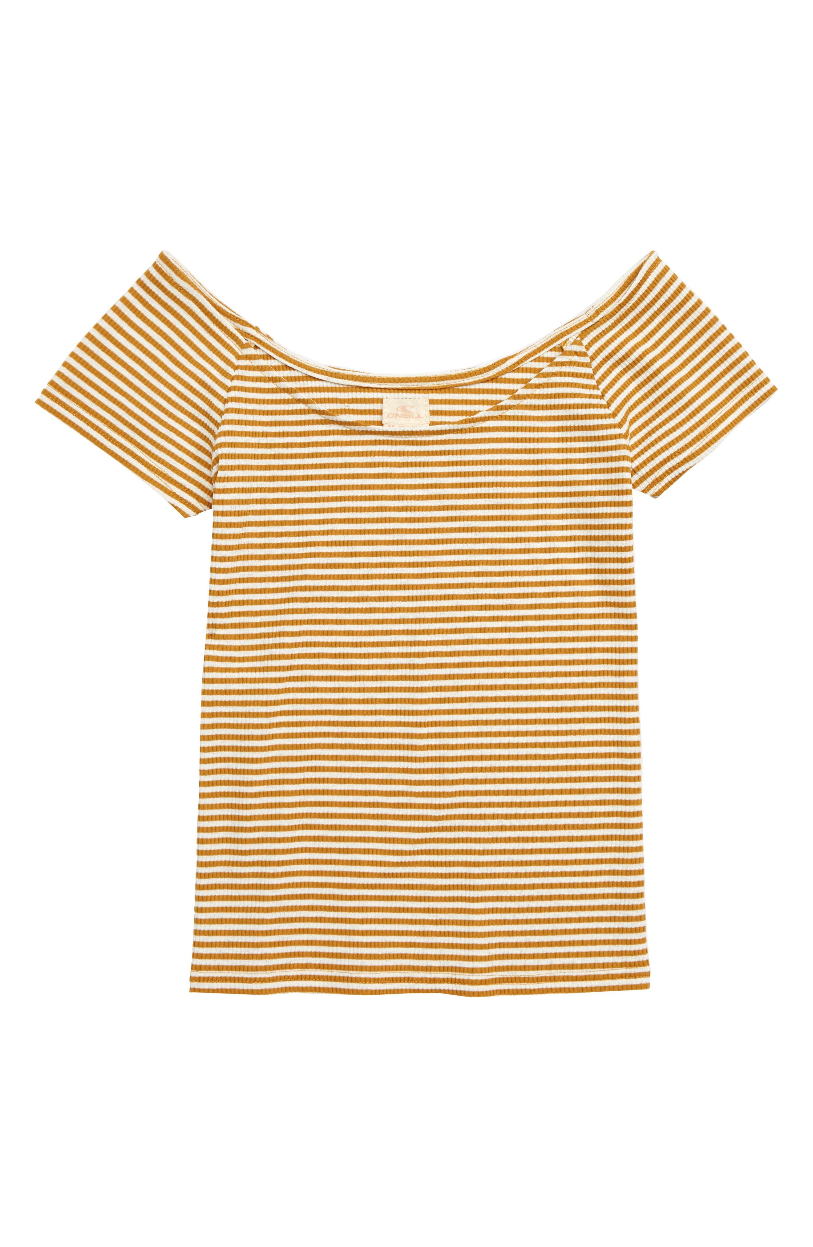 Melainie Stripe Top, Main, color, HONEY