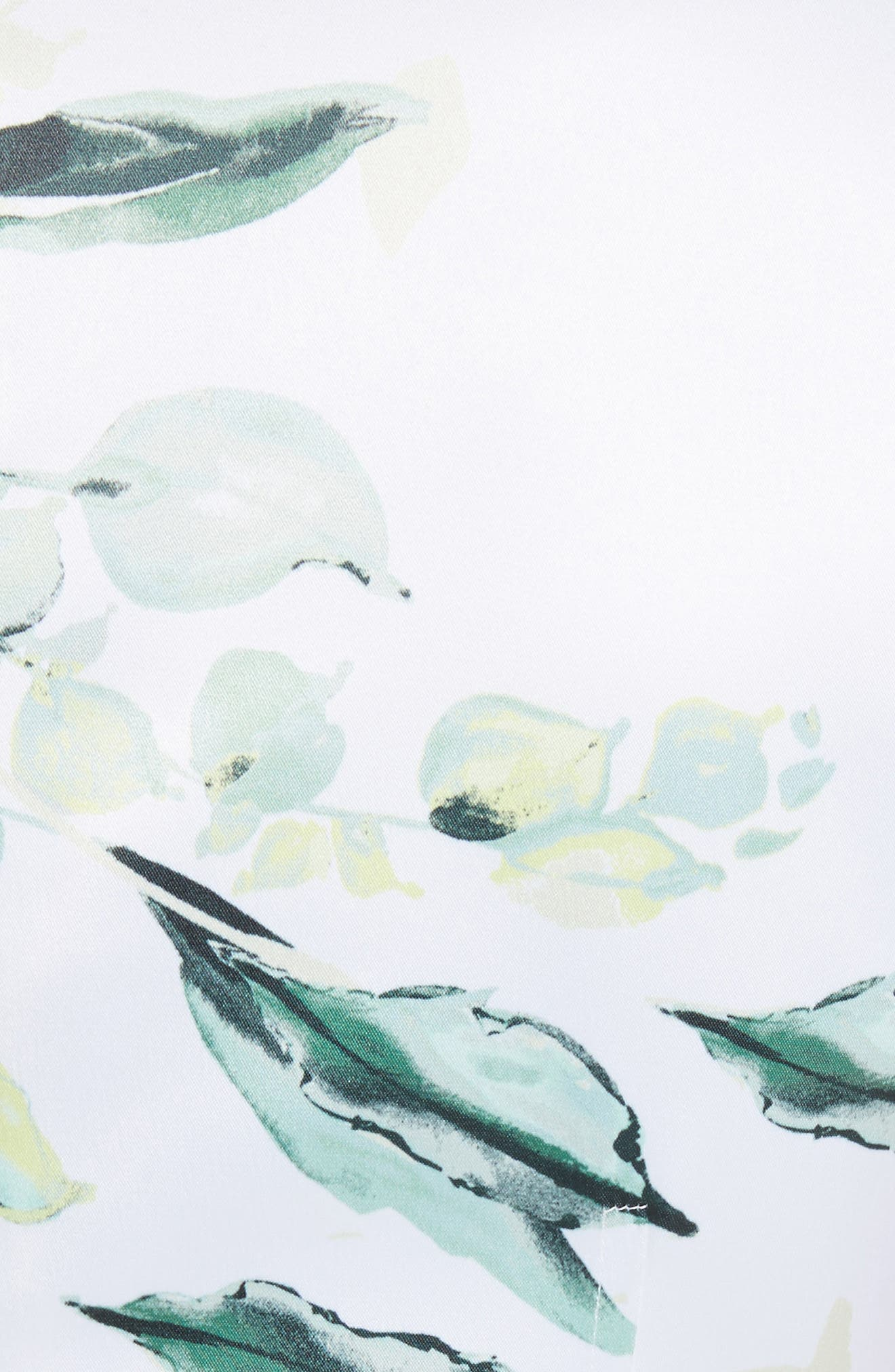 Leaf Print Sheath Dress,                             Alternate thumbnail 5, color,