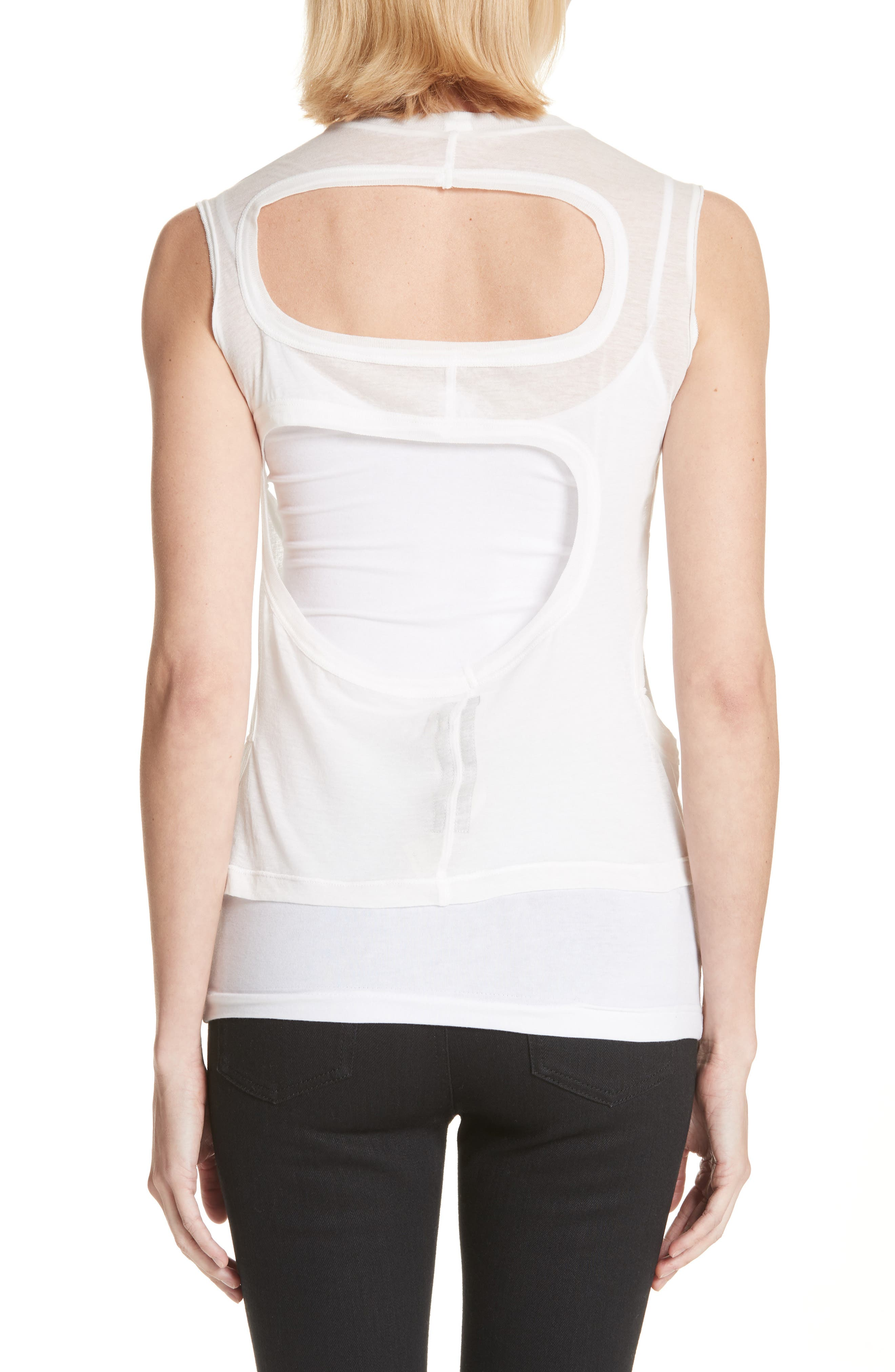 Membrane Cutout Tank Top,                             Alternate thumbnail 2, color,                             110