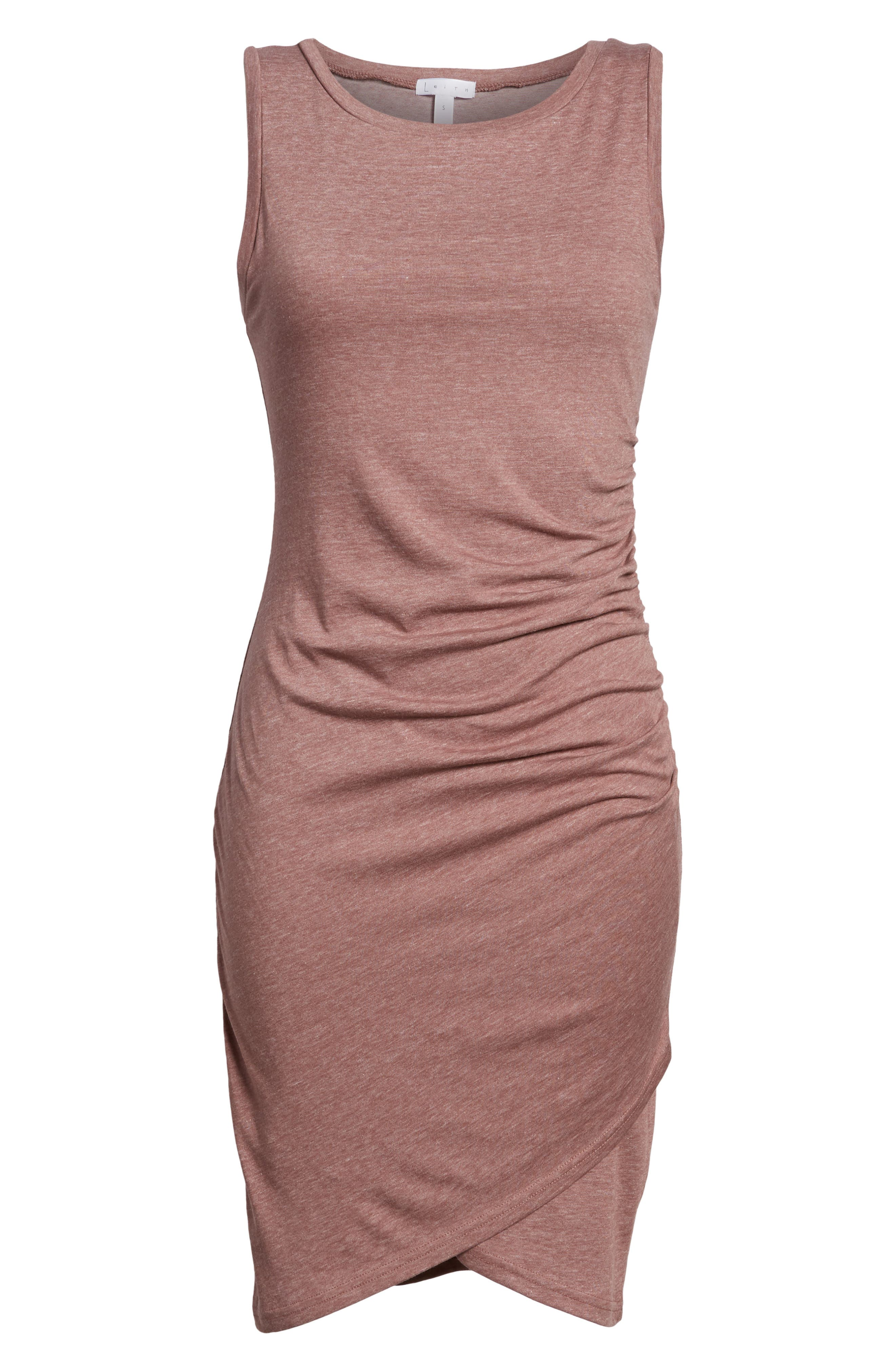 Ruched Body-Con Tank Dress,                             Alternate thumbnail 172, color,