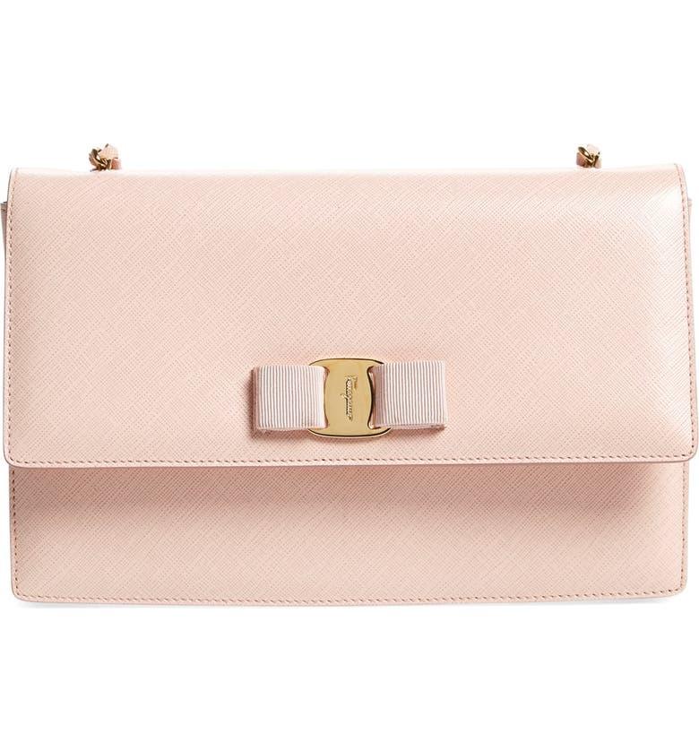 01c4b25af9bc Salvatore Ferragamo  Medium Ginny  Saffiano Leather Shoulder Bag ...